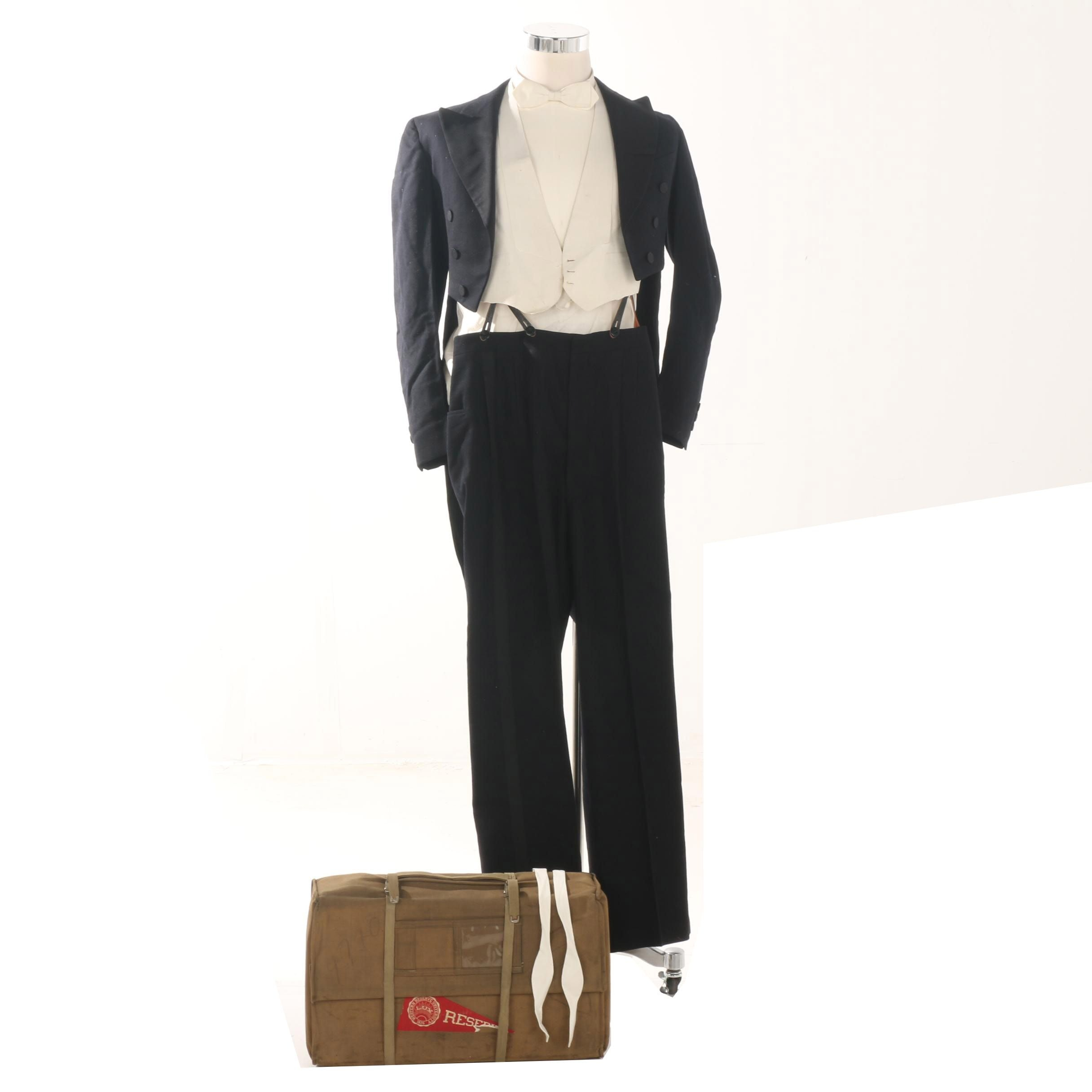 1920s Western Reserve Graduation Tuxedo with Tails