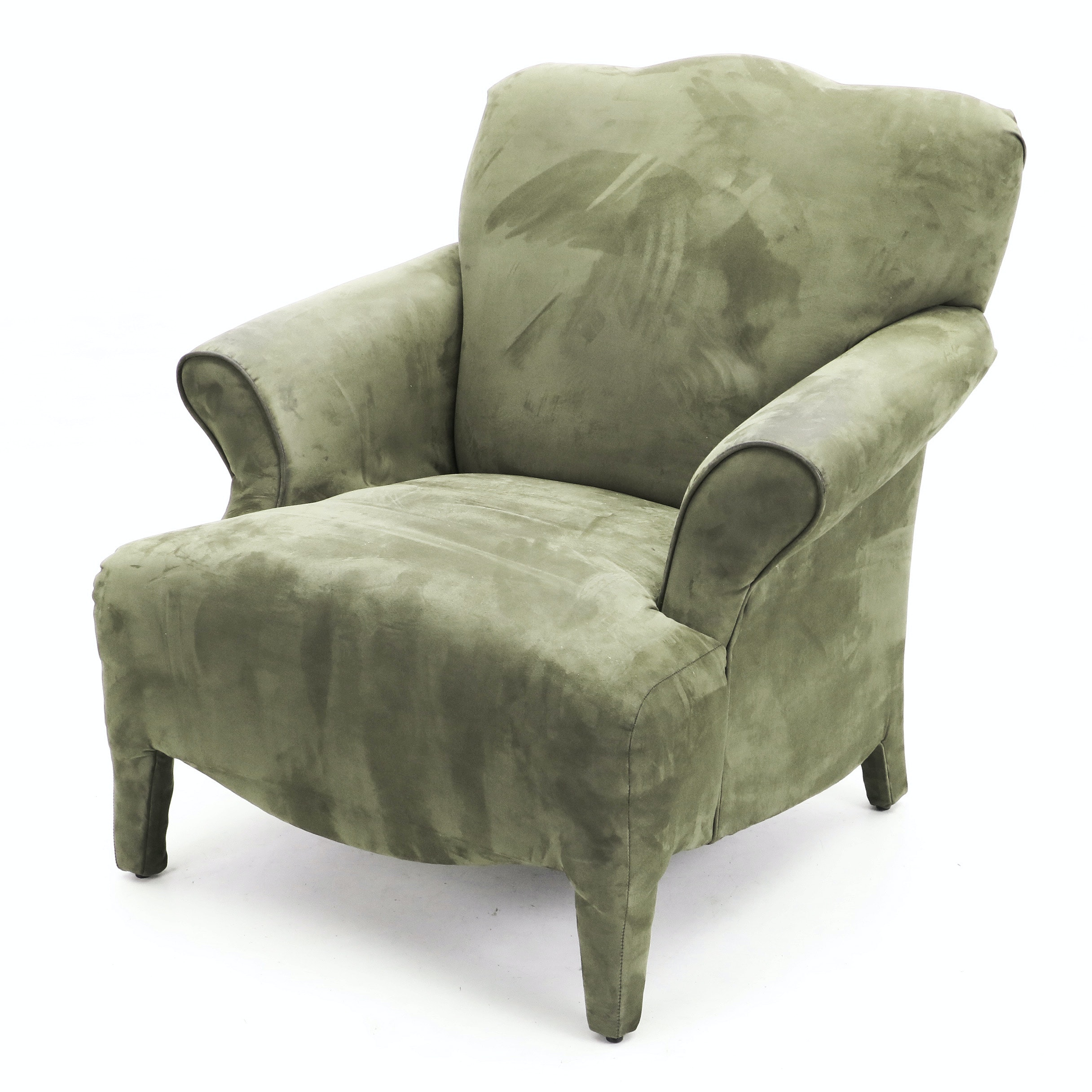 Forest Green Upholstered Armchair