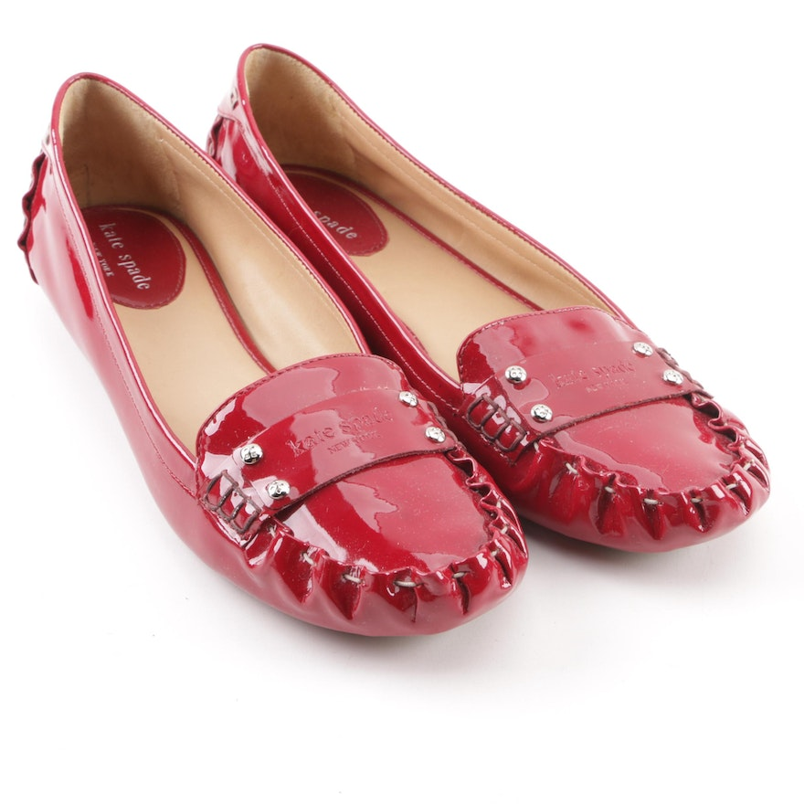 9fa1d9762742 Kate Spade New York Ruby Red Patent Leather Flats ...