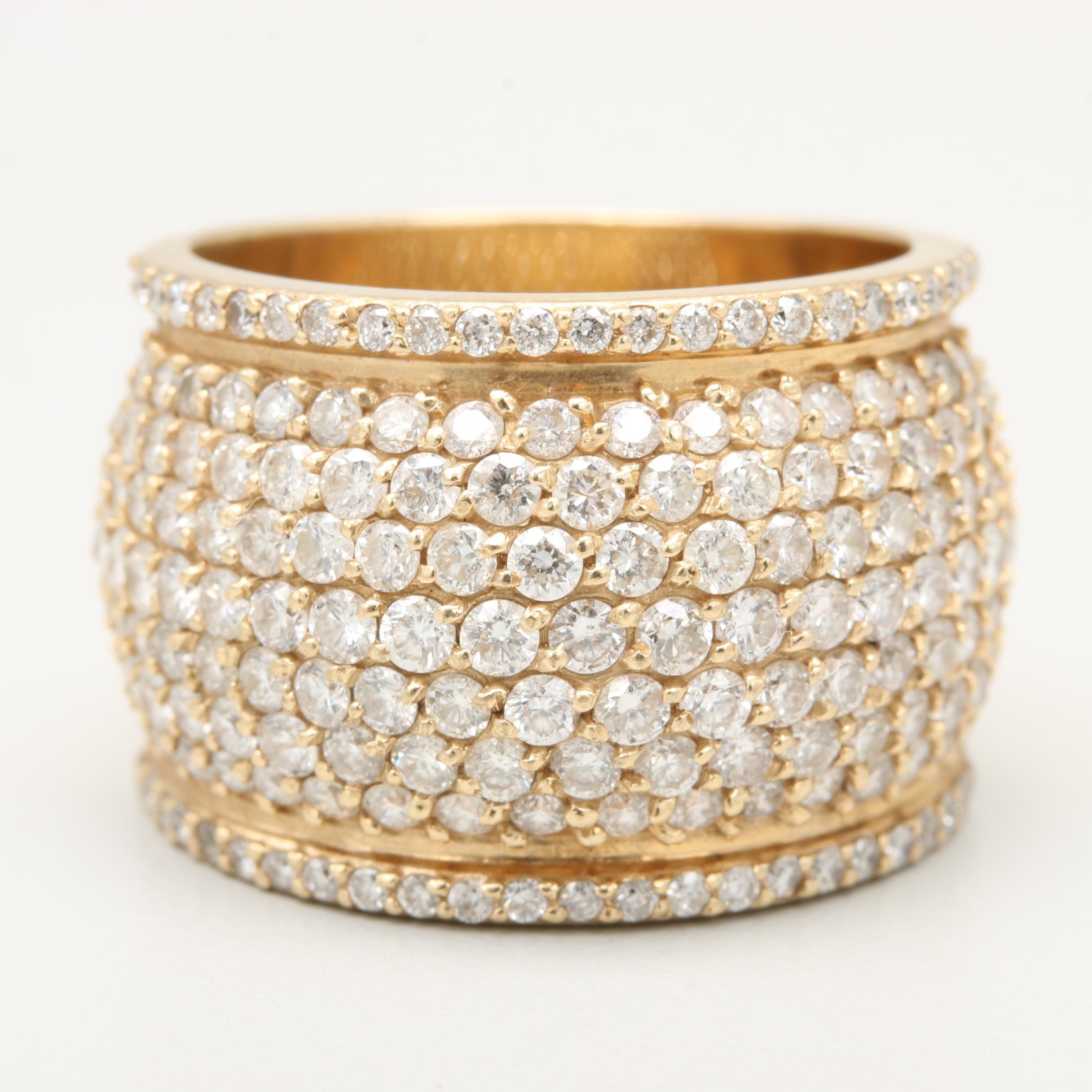 14K Yellow Gold 3.00 CTW Diamond Ring