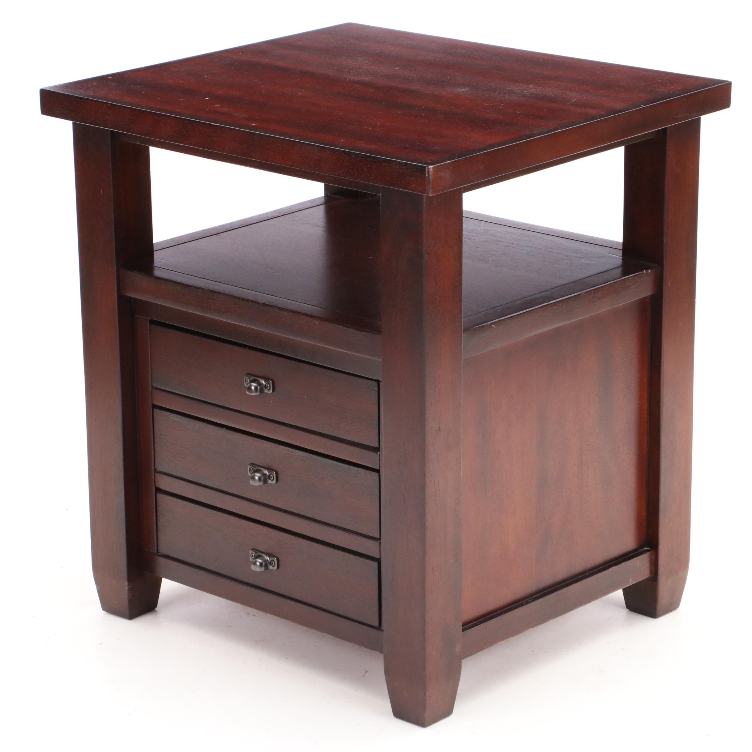 Contemporary Mahogany Side Table