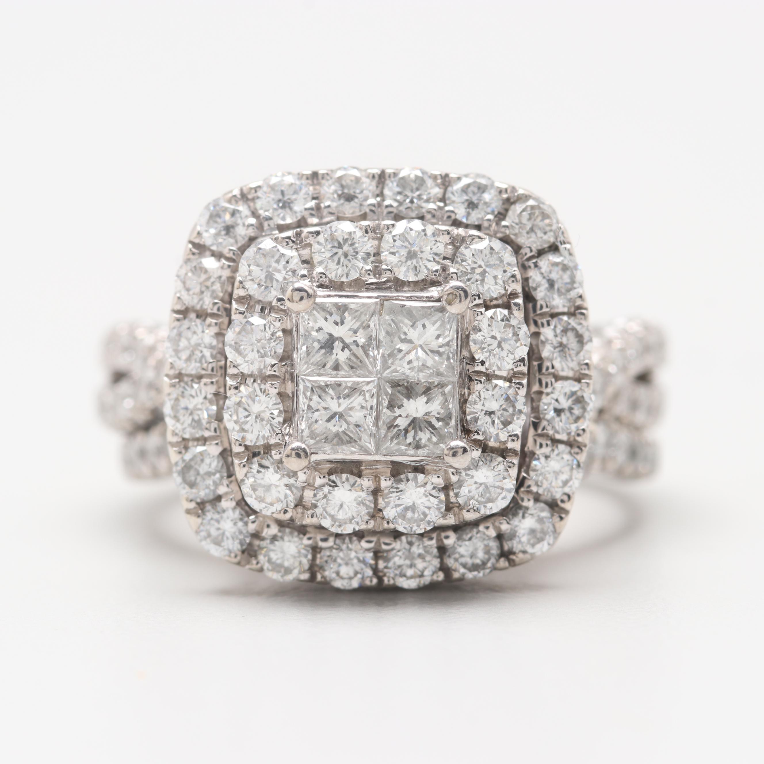 Neil Lane 14K White Gold 3.57 CTW Diamond Bridal Set