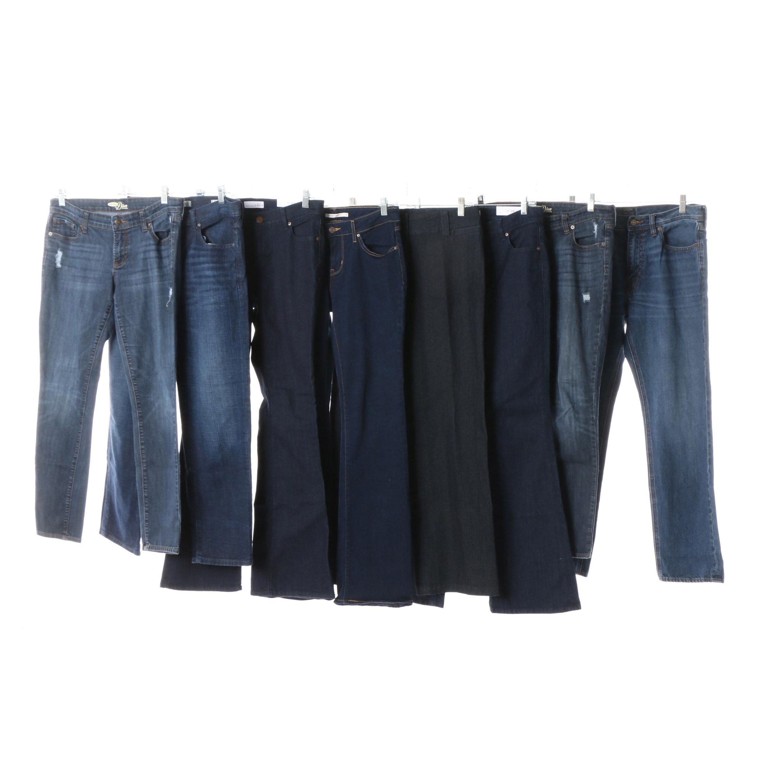 Women's Jeans including Levi's, J.Crew and Banana Republic