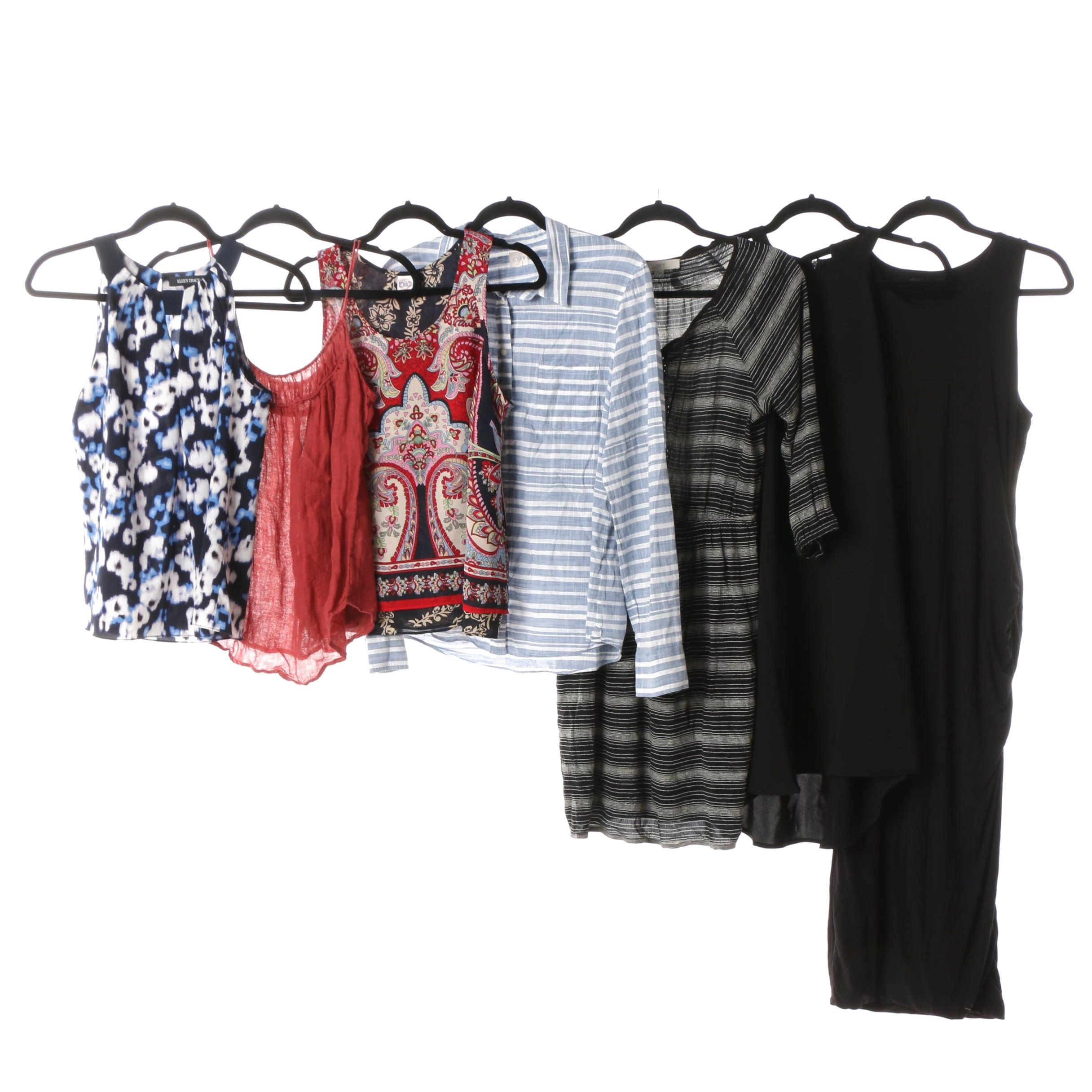 Dresses and Tops including Cynthia Rowley, Ellen Tracy and Banana Republic