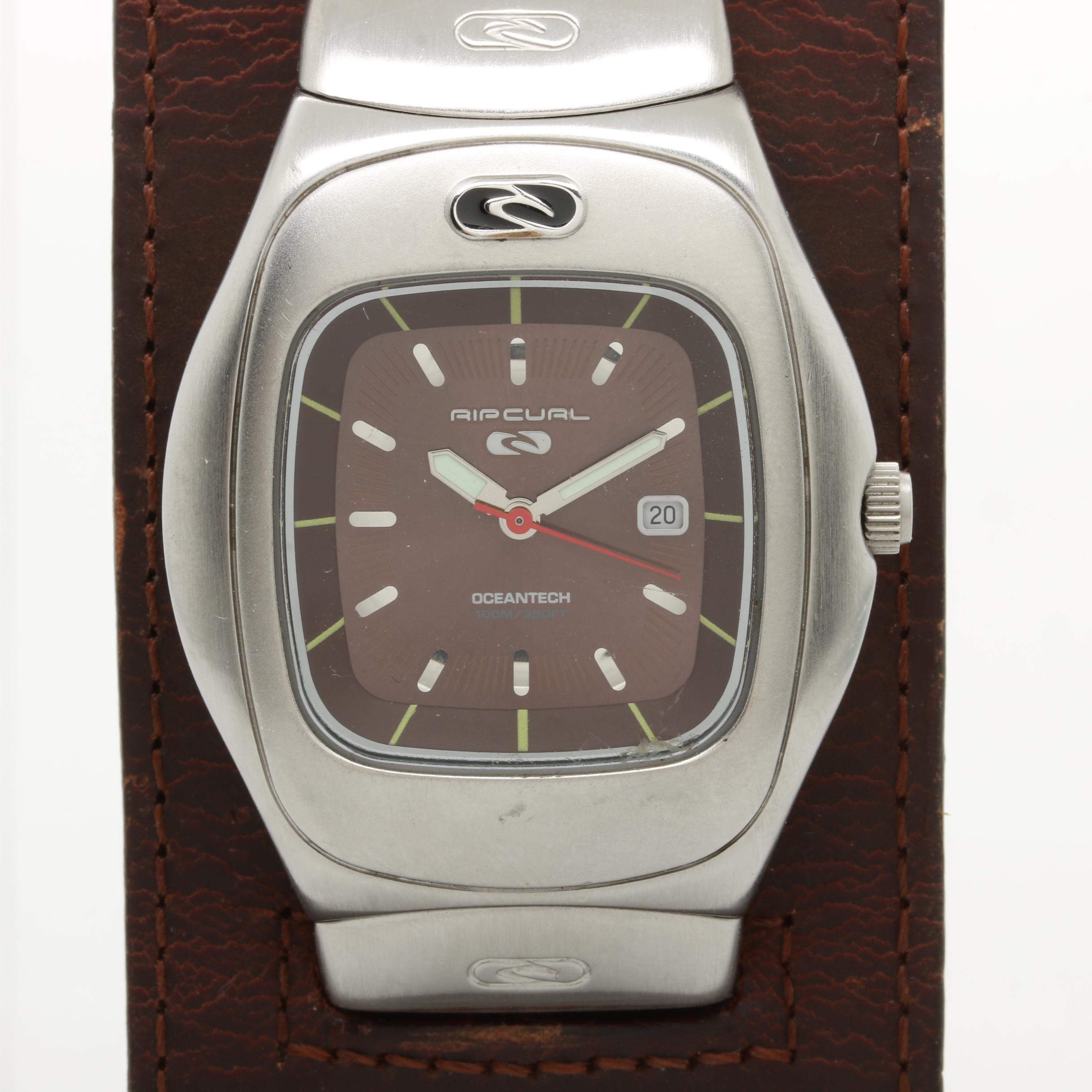 Rip Curl Oceantech Leather Wristwatch
