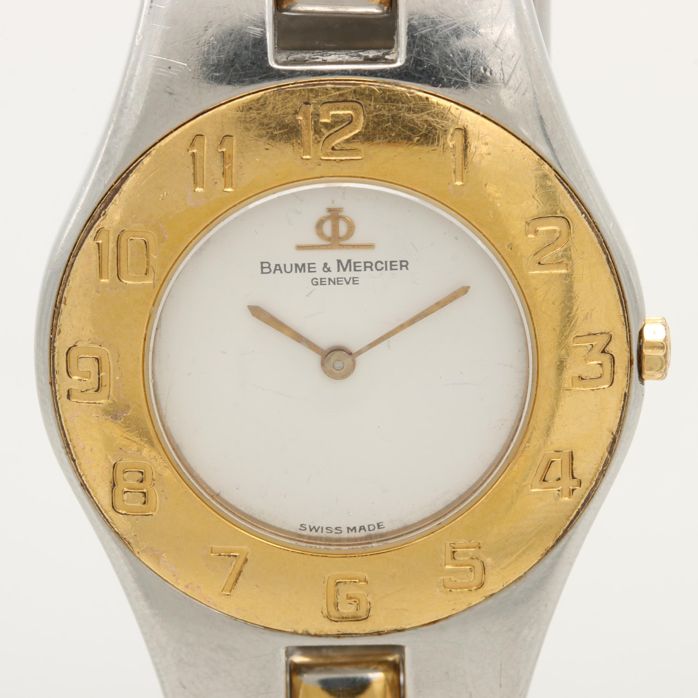 """Baume & Mercier """"Linea"""" Two Tone Stainless Steel Wristwatch"""
