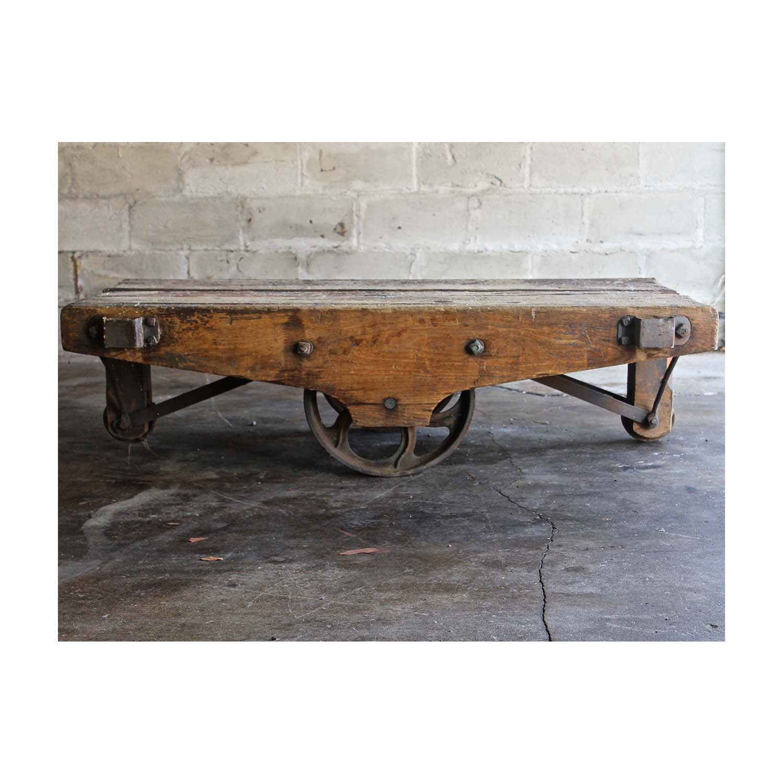 Antique Wooden Cart Attachment