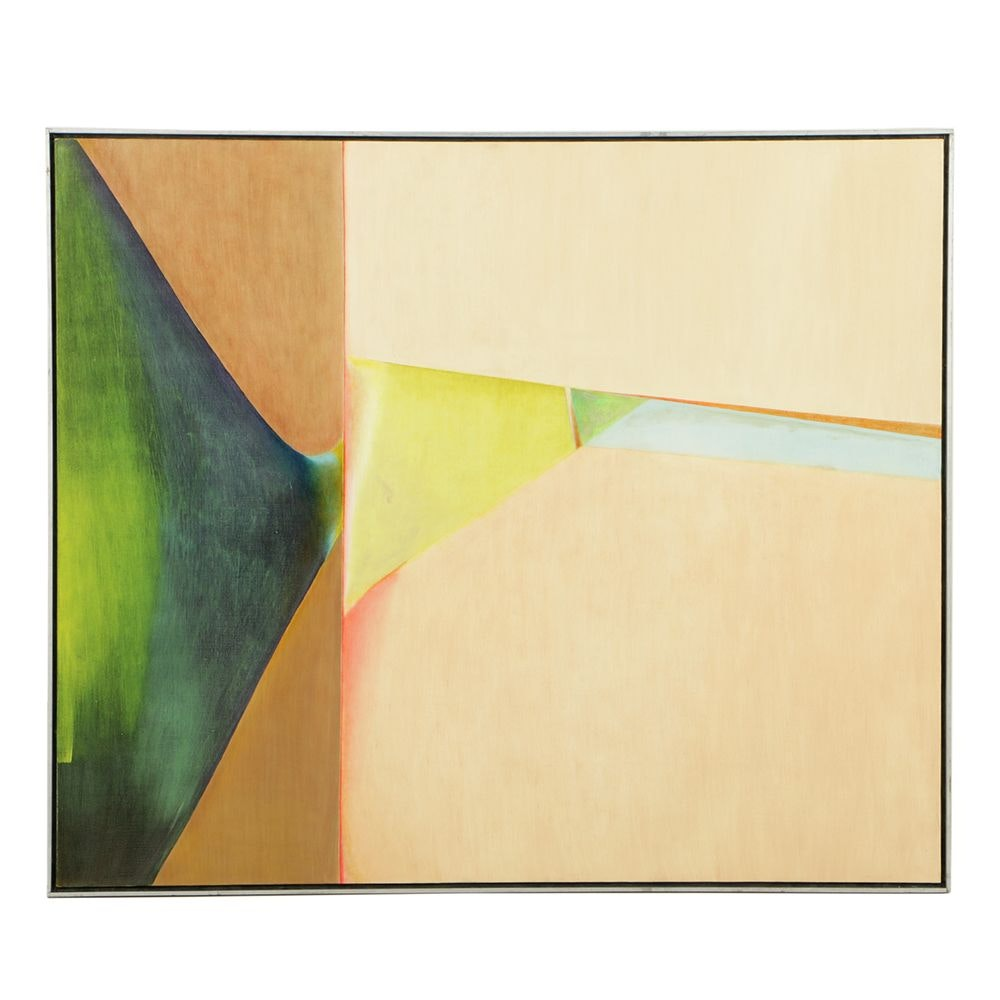 "Beth Hertz 1974 Monumental Oil Painting ""Crease"""