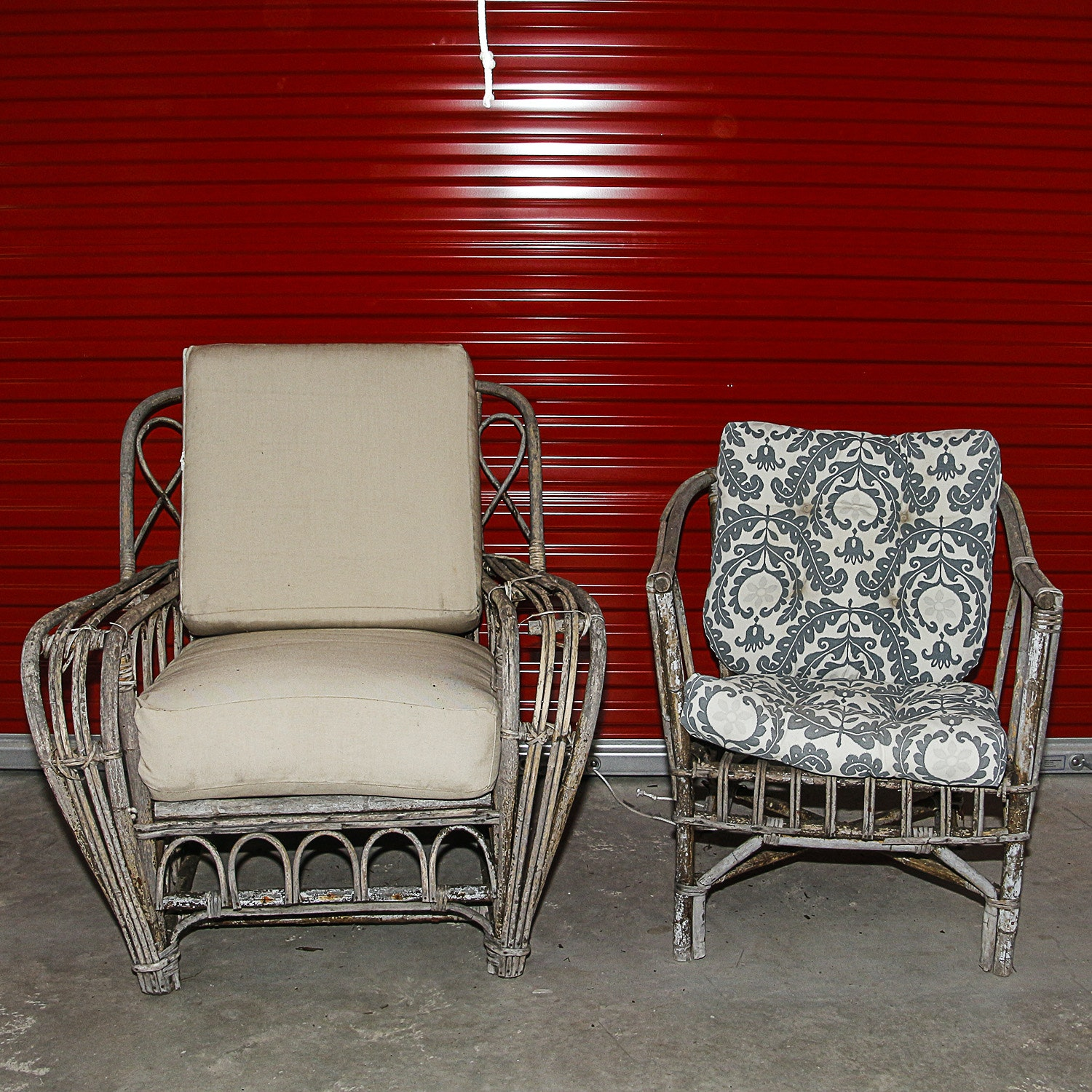 Vintage Rattan Patio Chairs