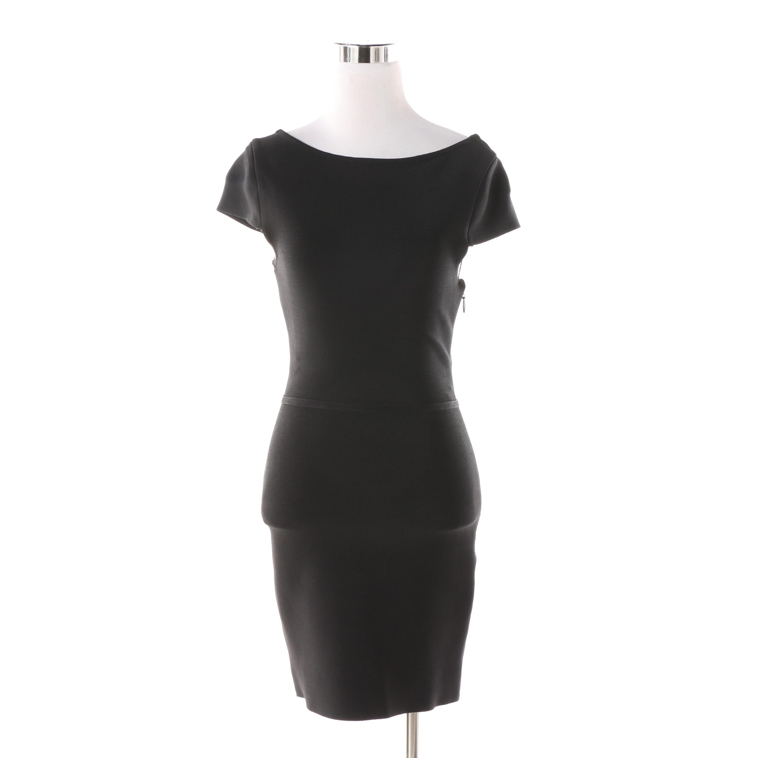 Herve Leger Black Bodycon Minidress
