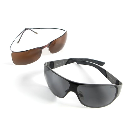 4c0fb009b Polo Ralph Lauren Wrap Sunglasses and Silhouette Semi-Rimless Sunglasses
