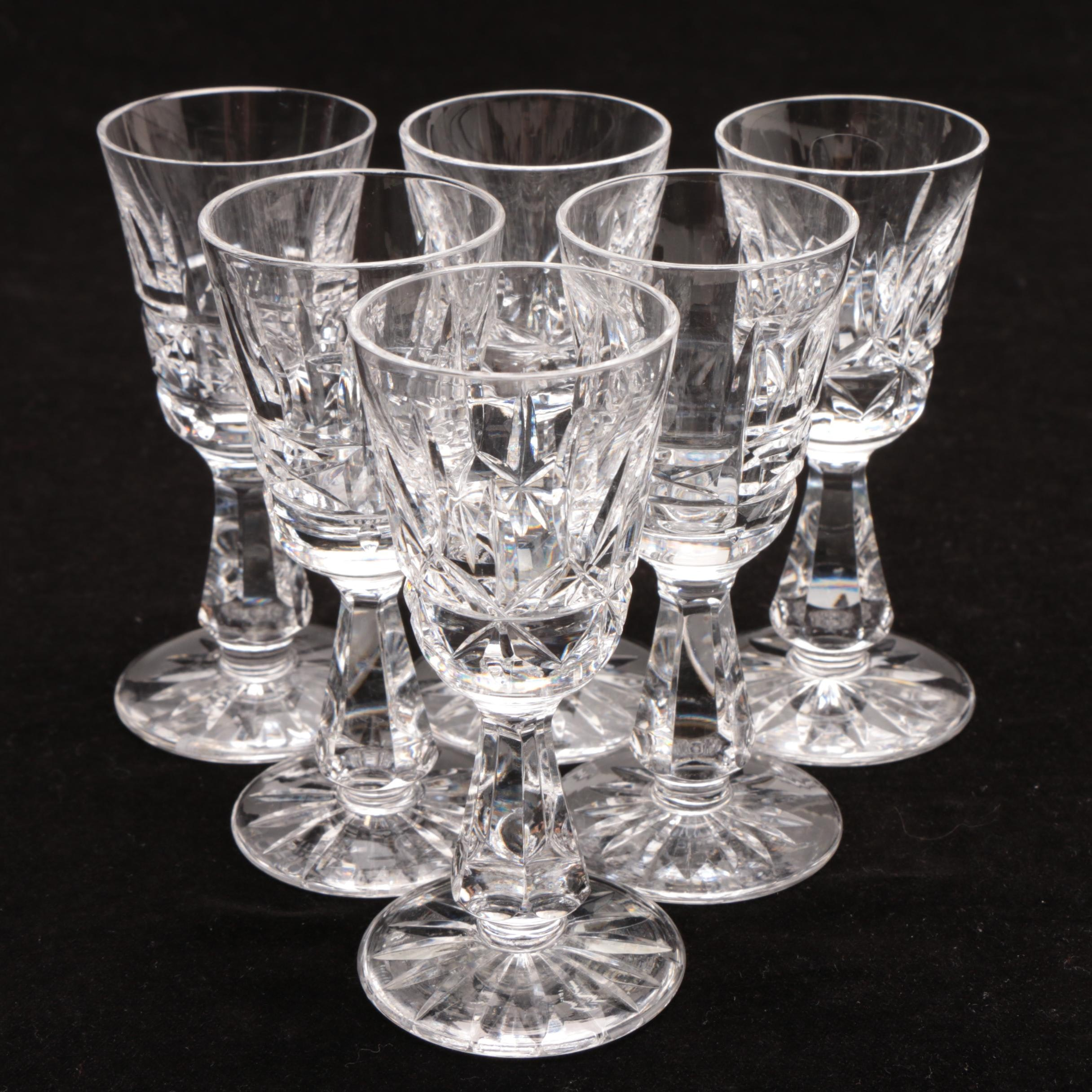 """Waterford Crystal """"Rosslare"""" Cordial Glasses"""