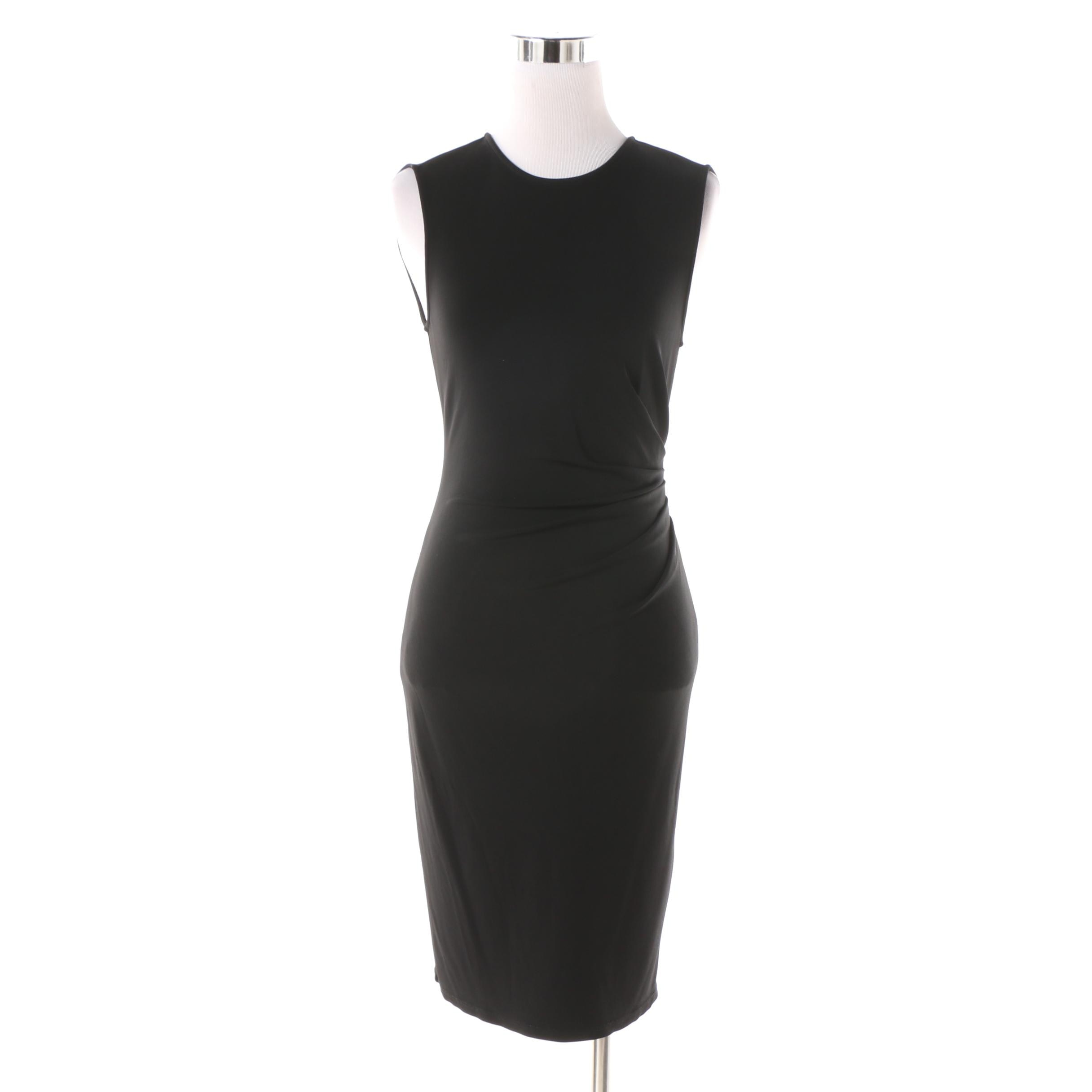 Theory Black Sleeveless Bodycon Dress