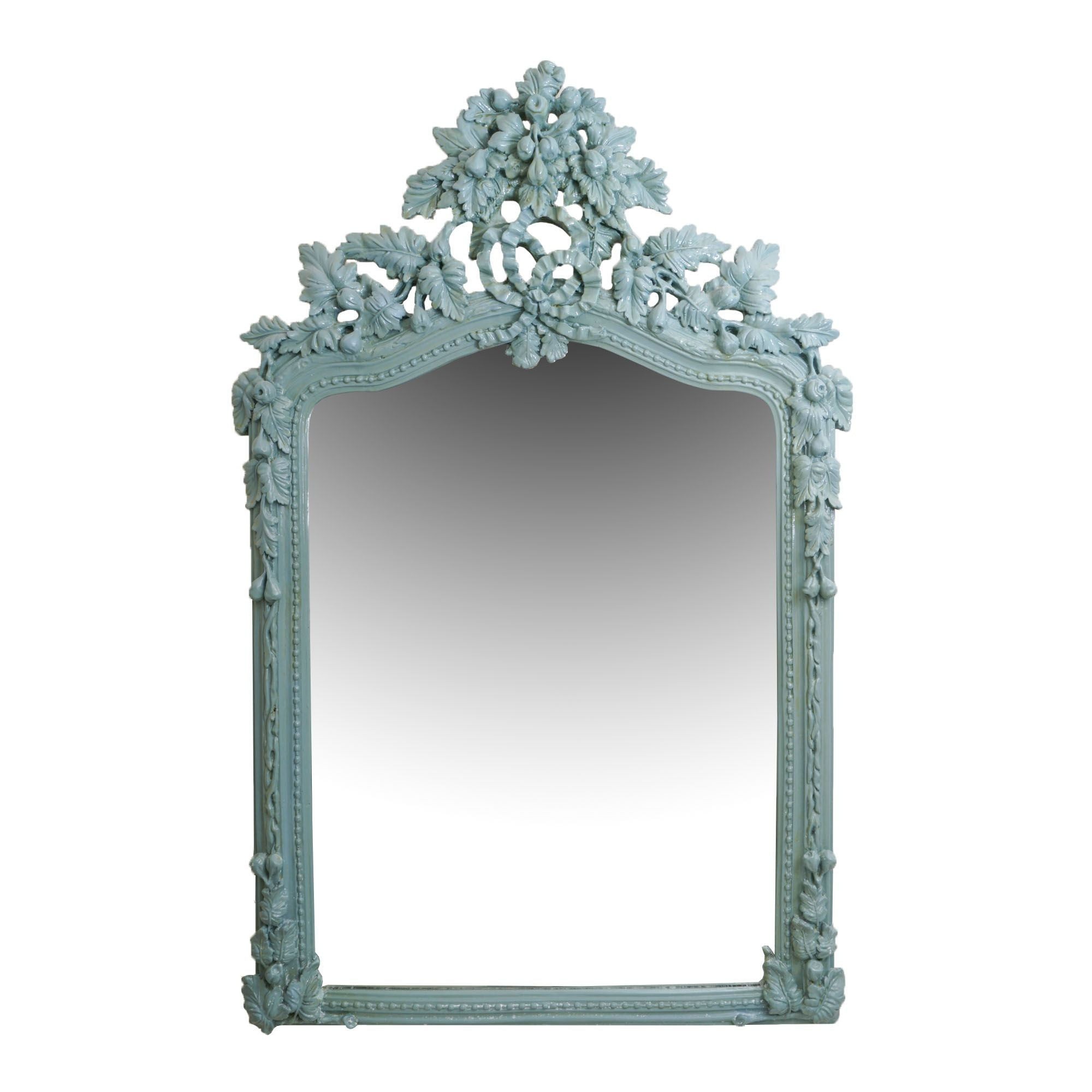 Louis XVI Style Painted Wall Mirror