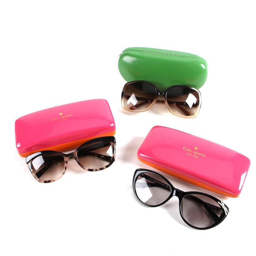 4395c7f69cea Kate Spade New York Livia2, Darryl and Amara Sunglasses with Cases ...