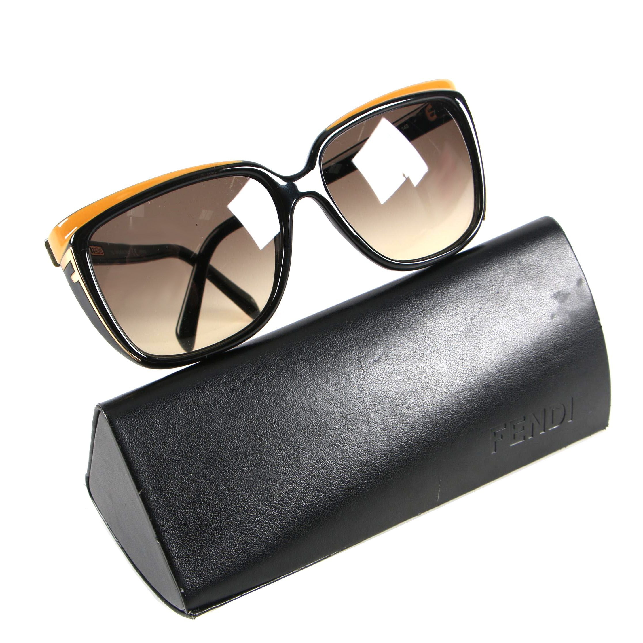 Fendi FS5282 Black and Yellow Sunglasses with Case