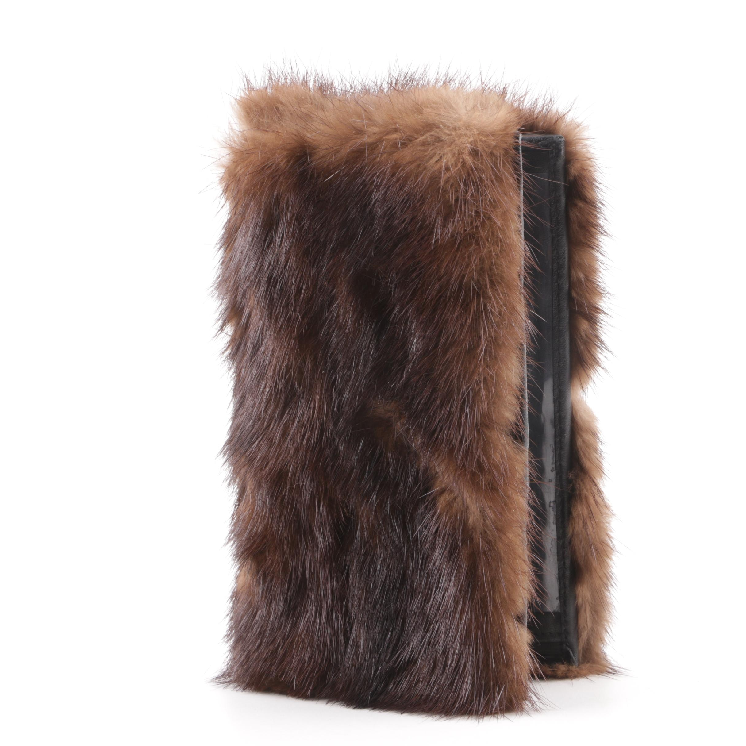 Mink Fur and Leather Wallet
