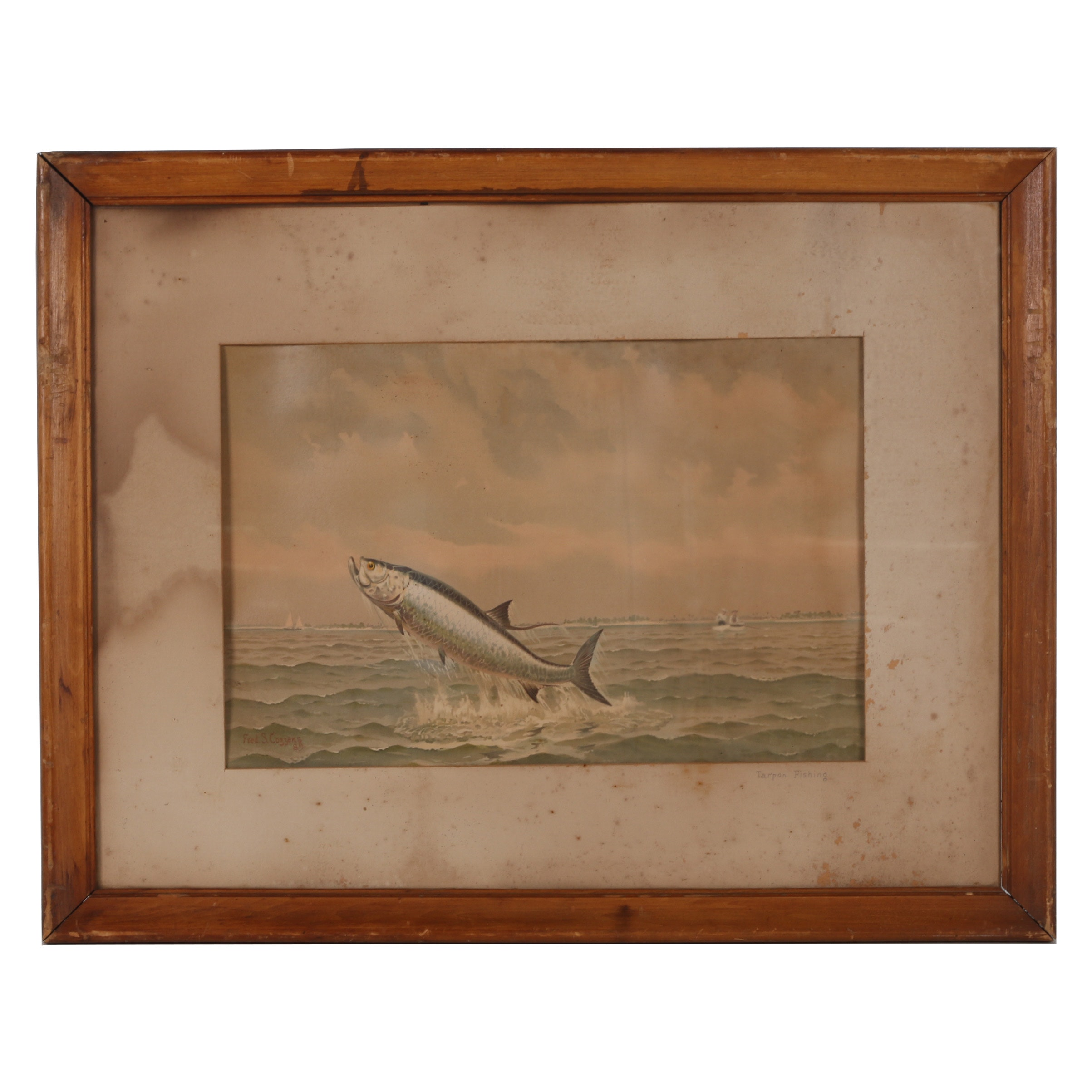 "Chromolithograph after Frederic S. Cozzens ""Tarpon Fishing"""