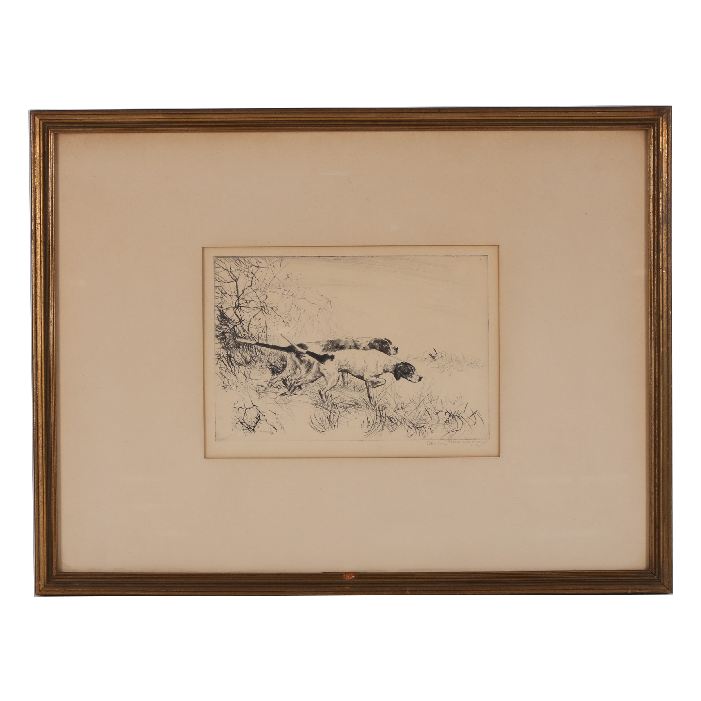 Mid 20th Century Etching with Drypoint
