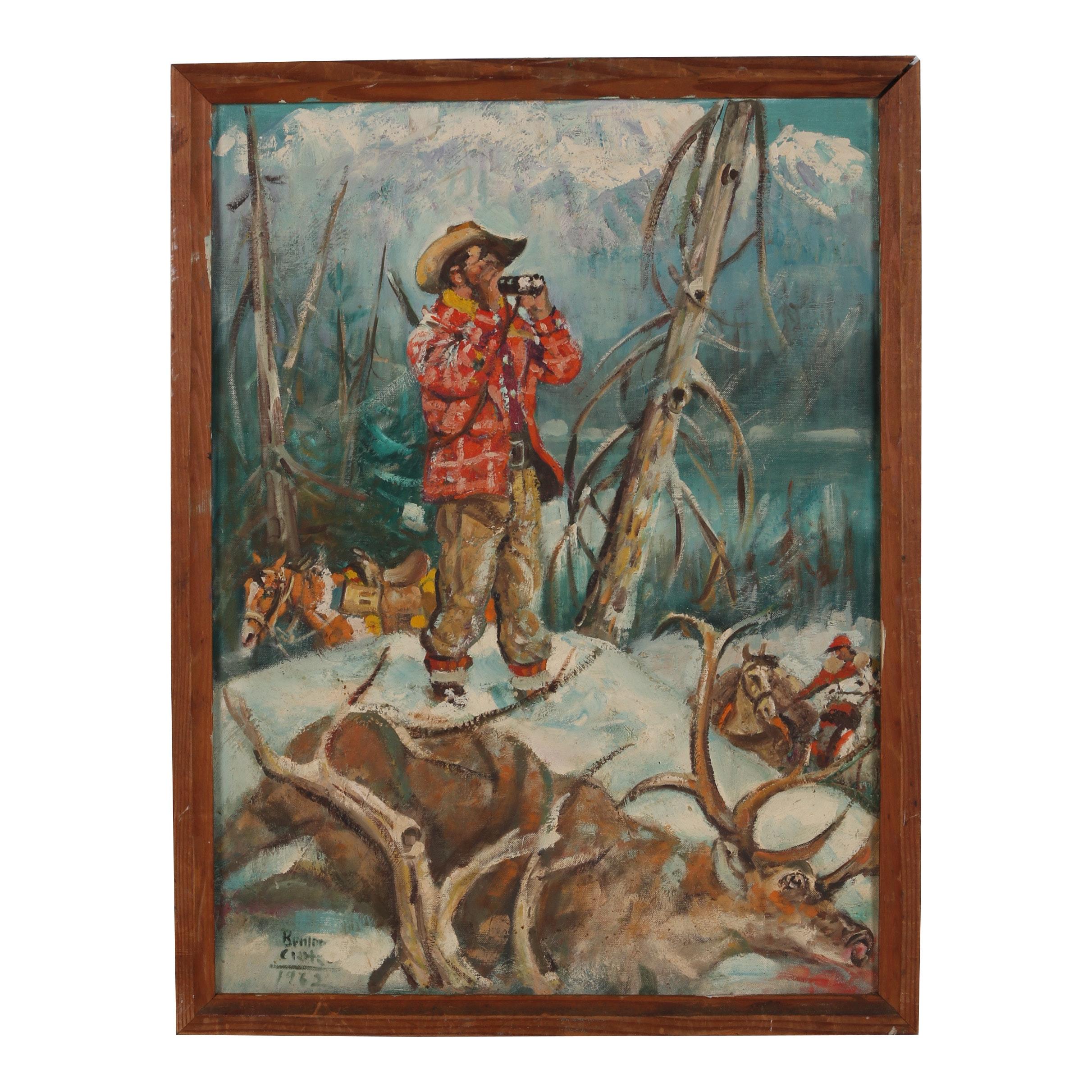 Oil Painting in the Manner of Benton Clark