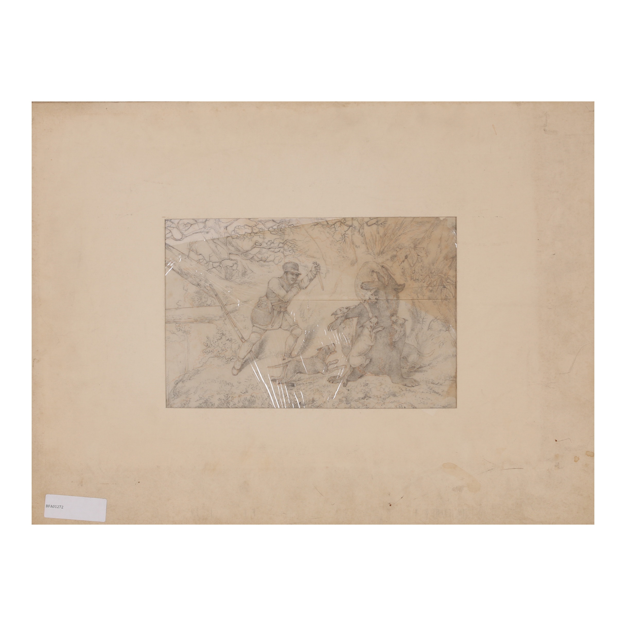 Henry Alken Graphite Drawing and Hand-Colored Etching with Aquatint