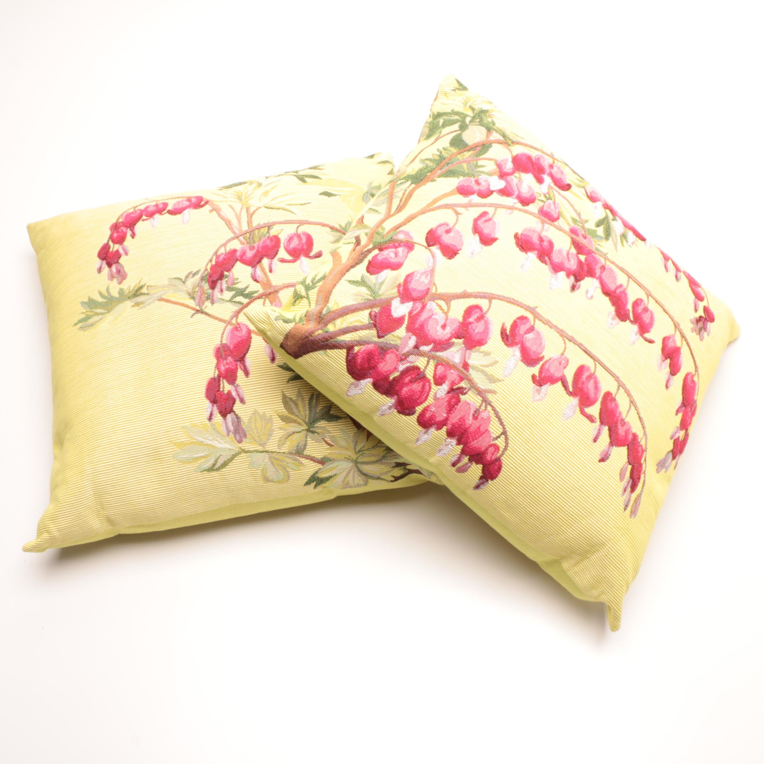 "French Tissage ""Art de Lys"" Floral Accent Pillows"