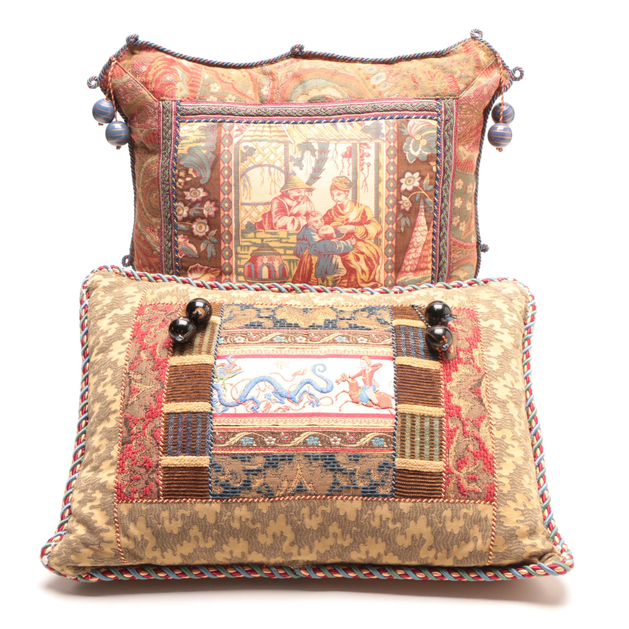 Decorative Pillows with Beaded Accents