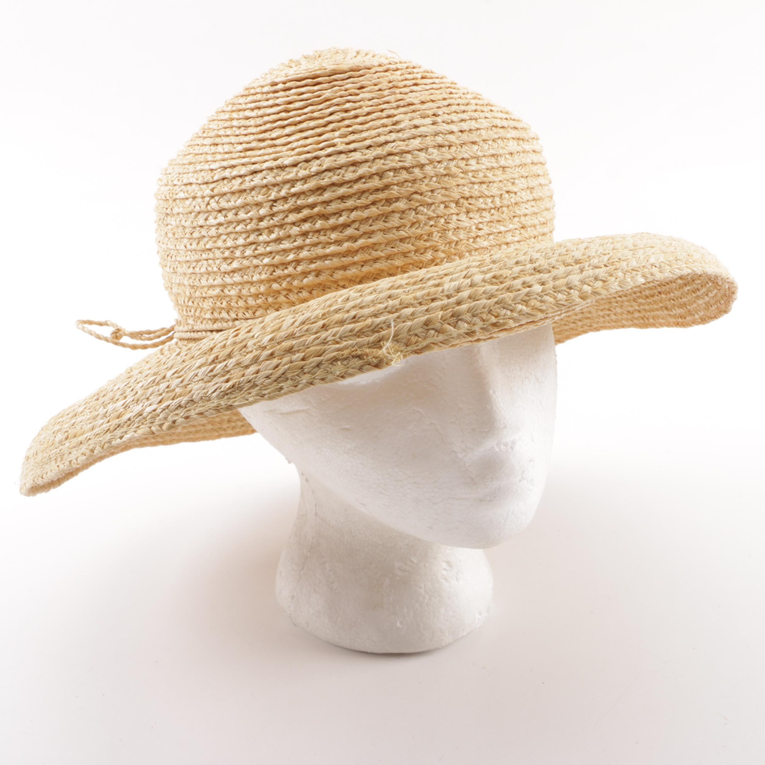 Women's Helen Kaminski of Australia Woven Raffia Wide Brim Hat