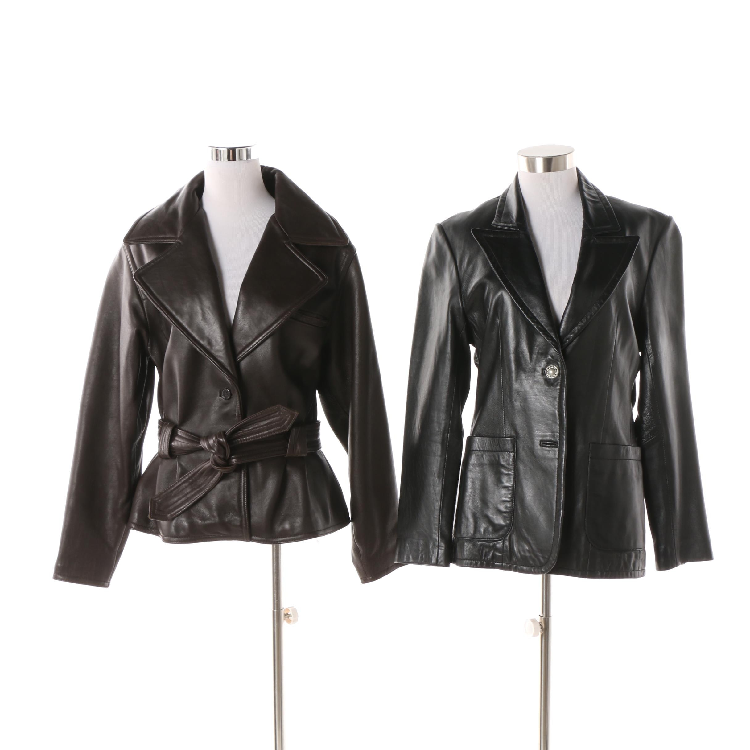 Women's Leather Jackets Including Vakko Sport