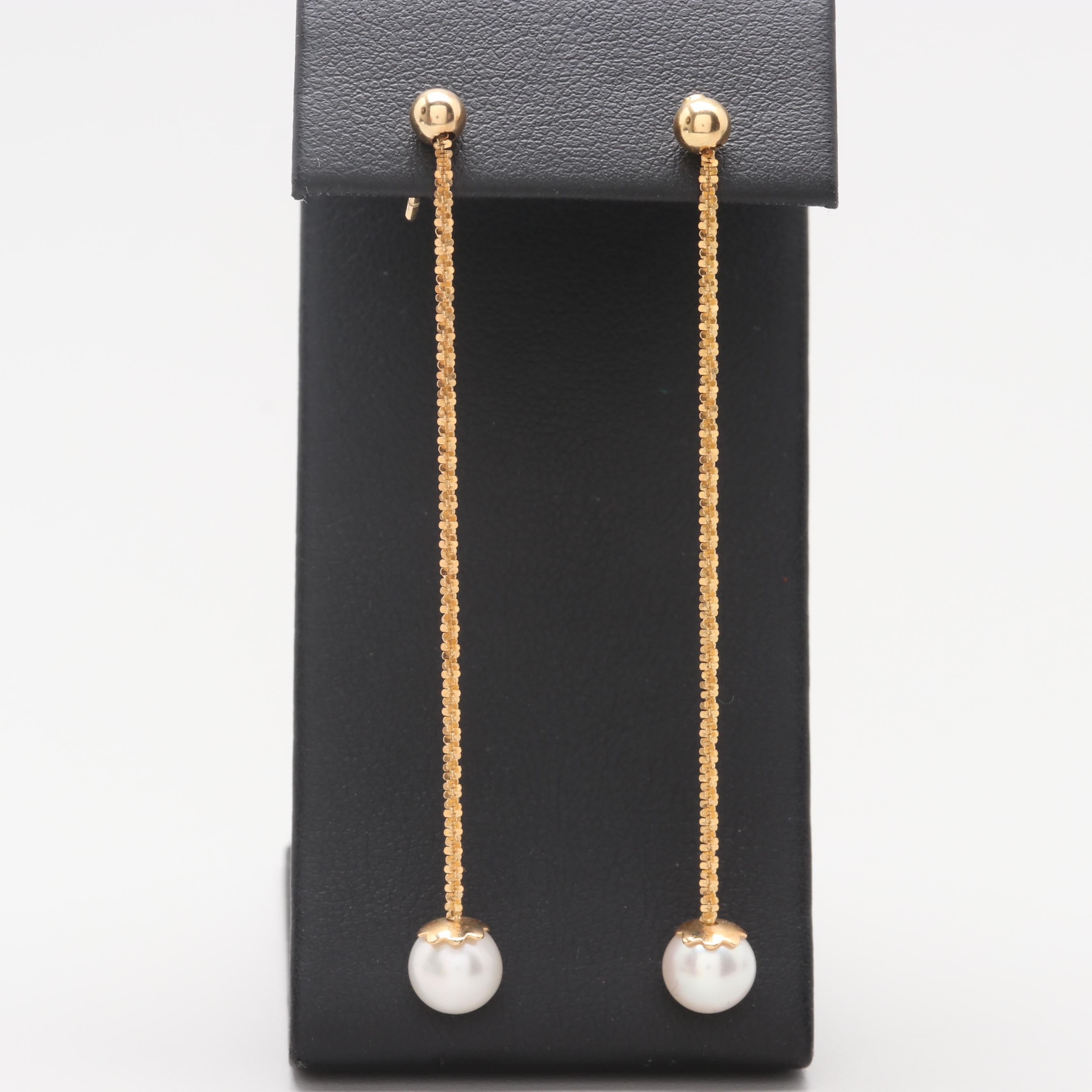 Milor 14K Yellow Gold Cultured Pearl Earrings