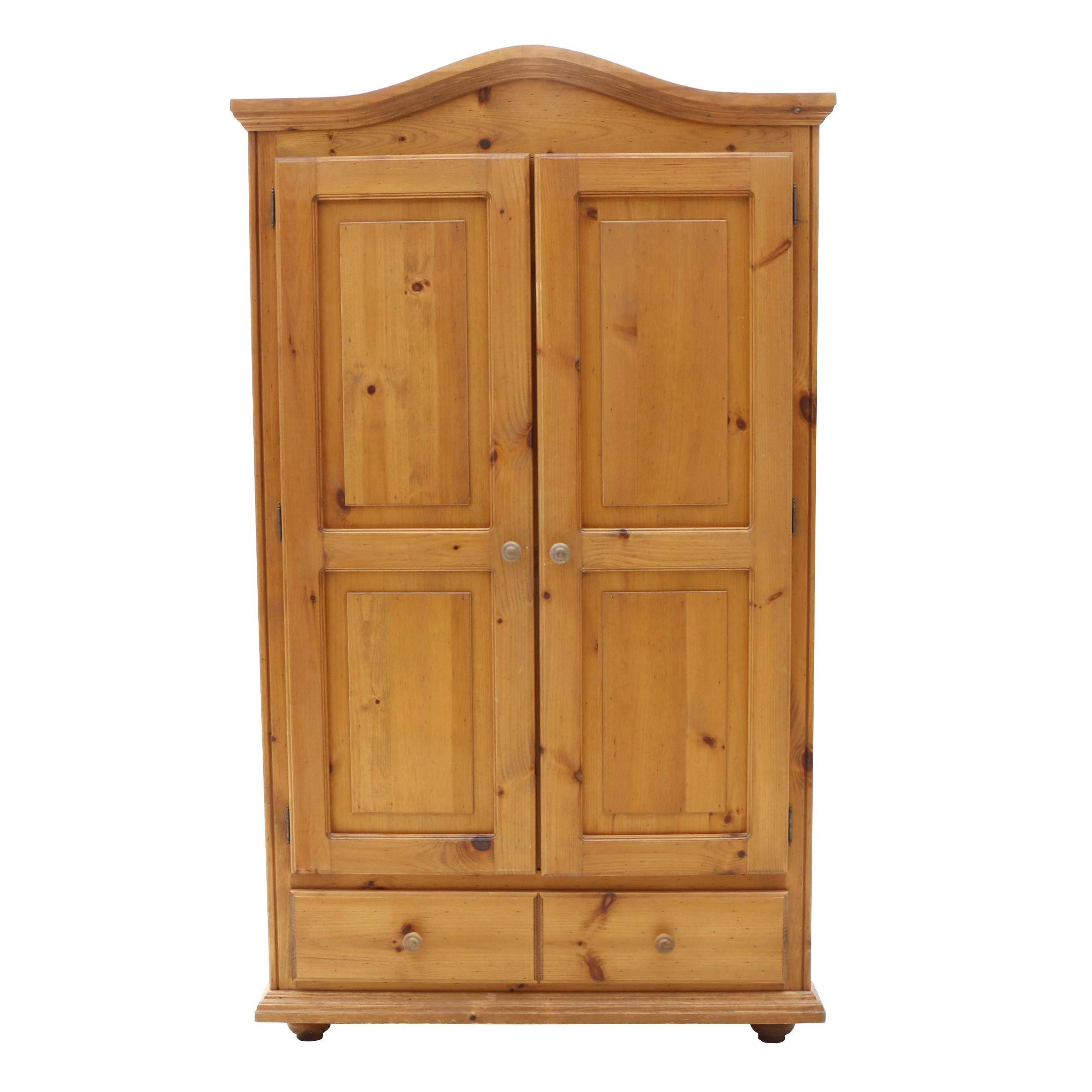 Country Style Pine Entertainment Armoire