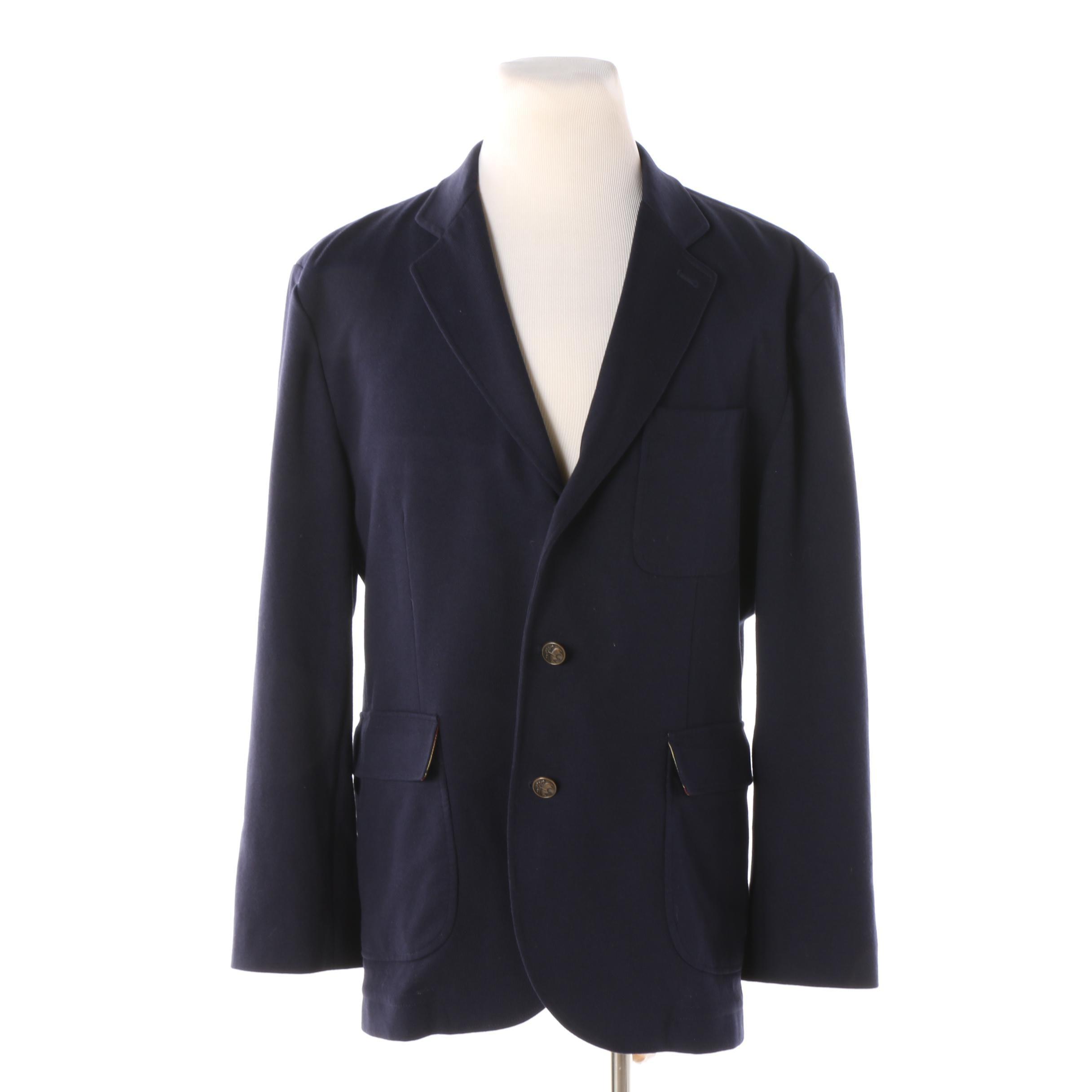 Men's Brooks Brothers Navy Knit Sport Coat