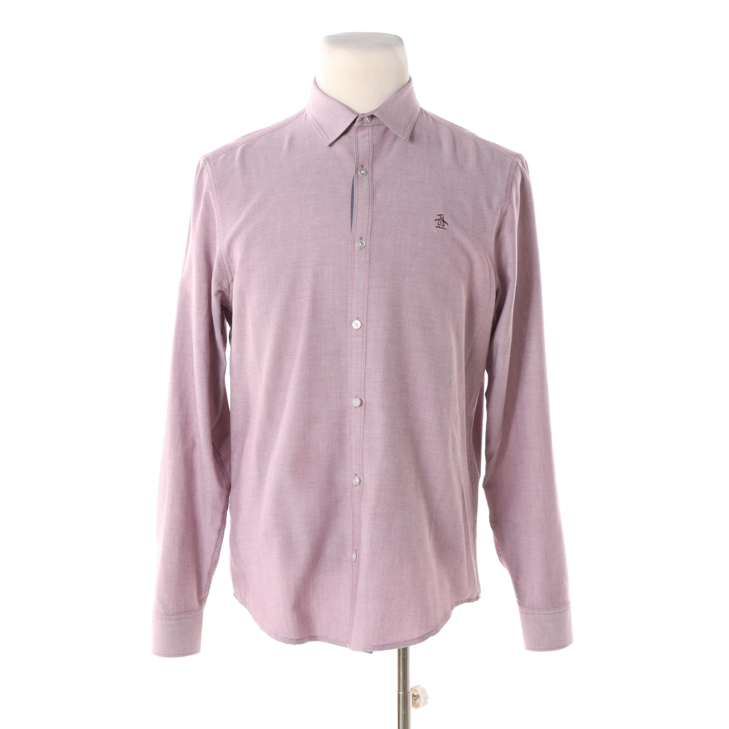 Men's Penguin by Munsingwear Heritage Slim Fit Button-Front Shirt