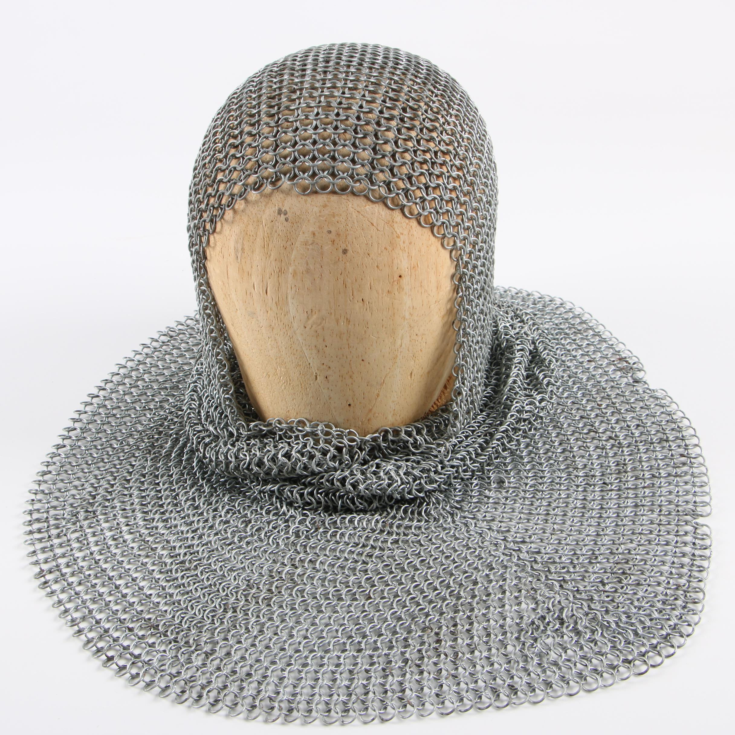 Chainmail Coif with Wooden Form