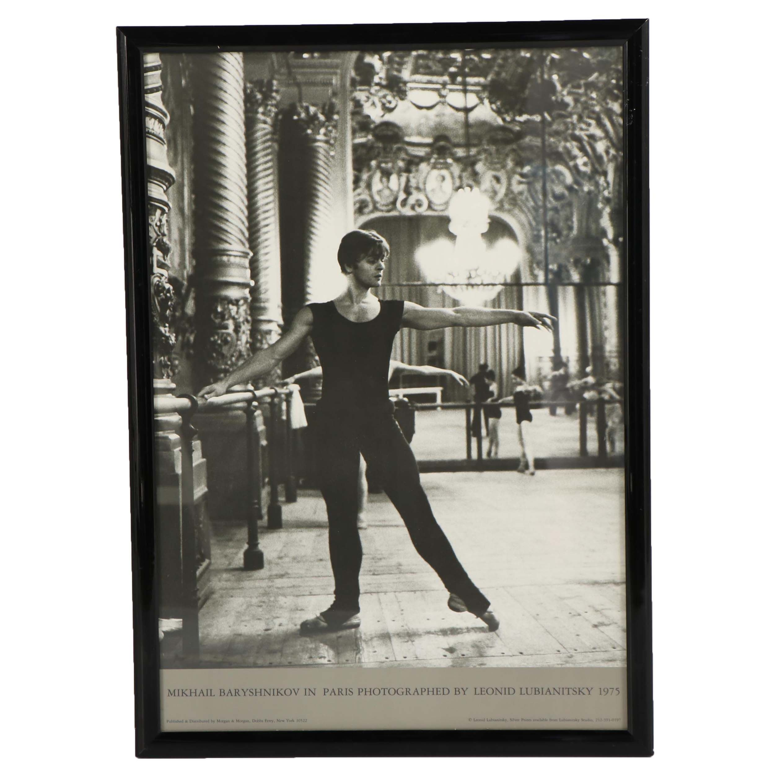 Leonid Lubianitsky Offset Lithograph of Mikhail Baryshnikov in Paris