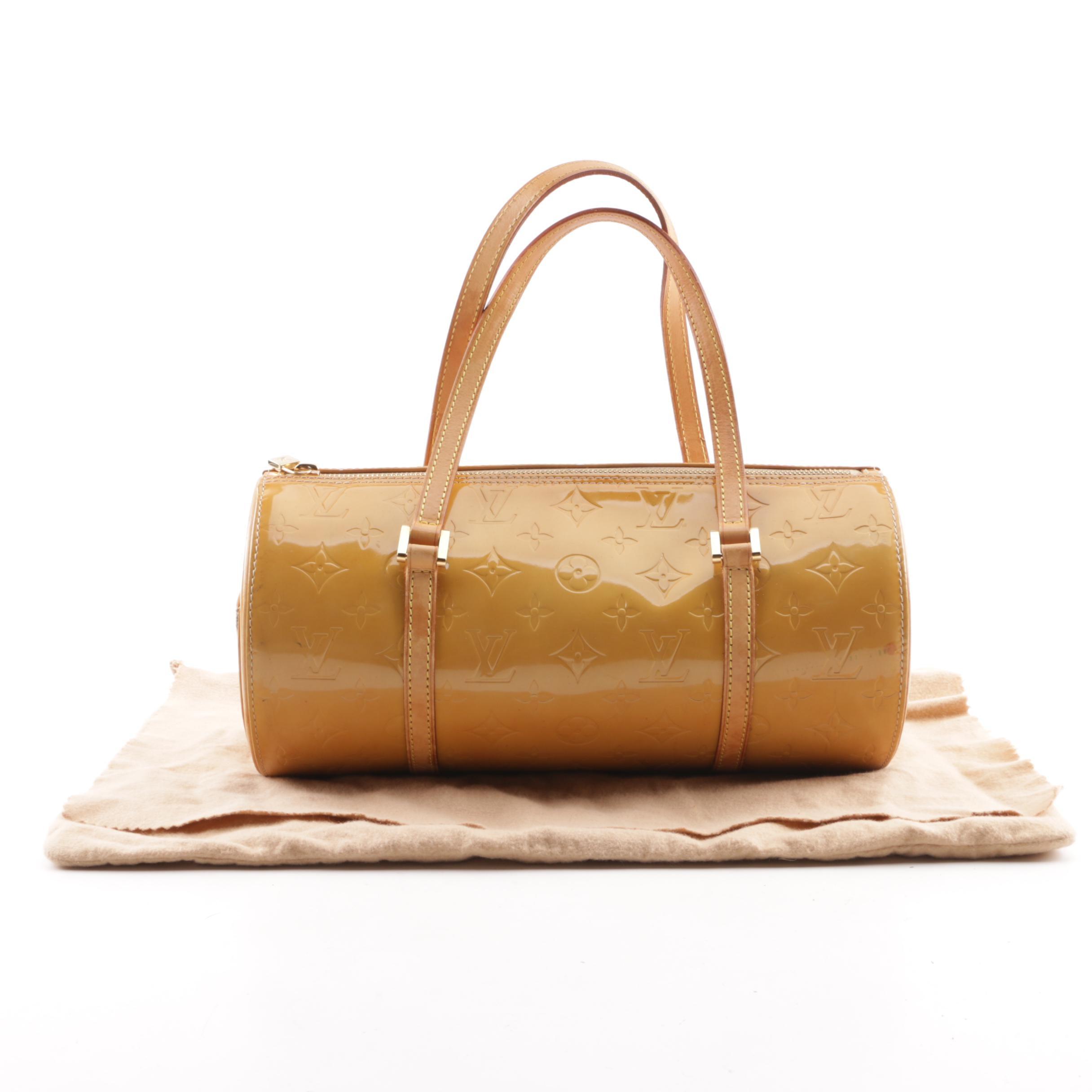 1999 Louis Vuitton Paris Mango Vernis Leather Bedford Barrel Bag