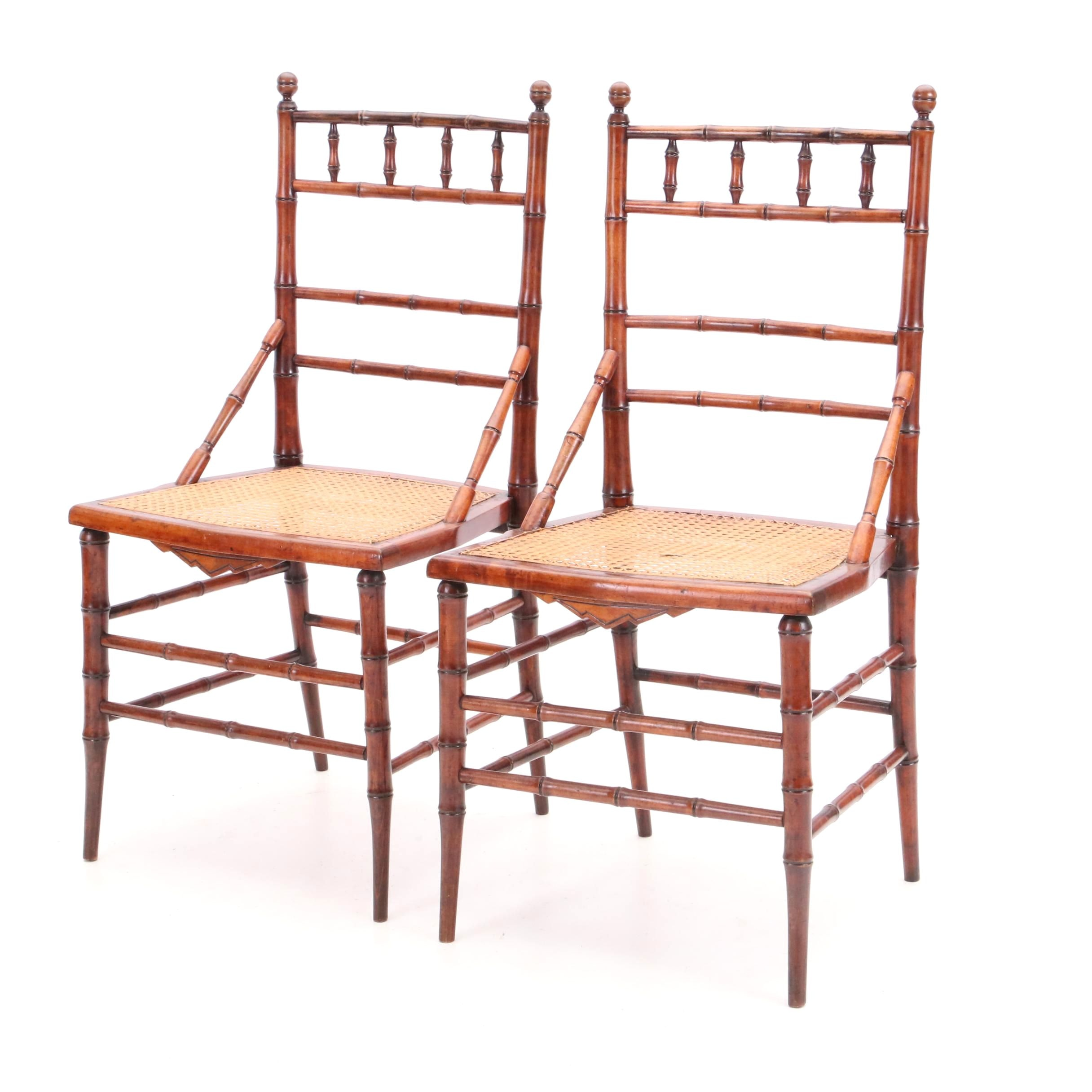 Late 19th Century Bamboo Side Chairs