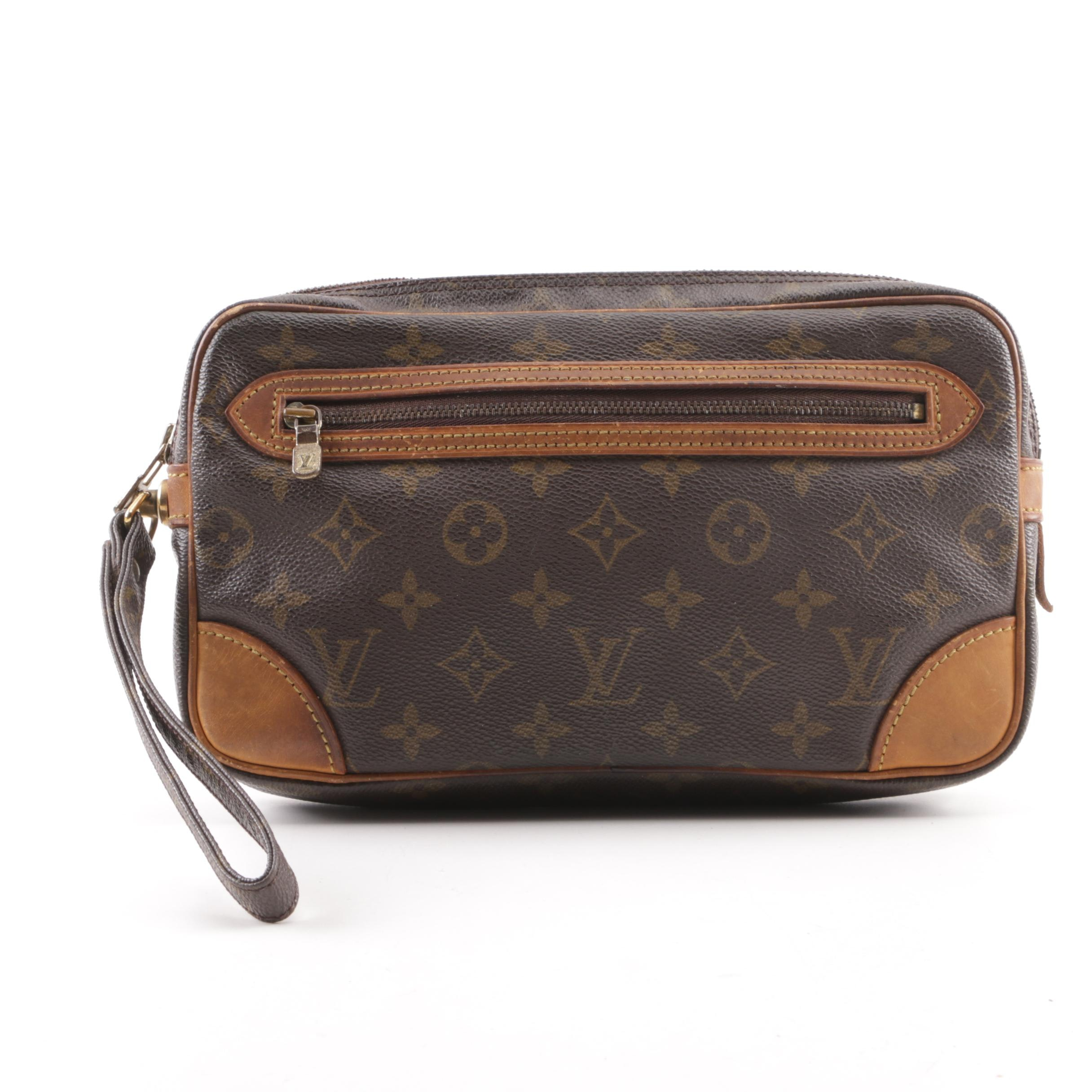1990 Louis Vuitton Marly Dragonne Monogram Canvas Wristlet