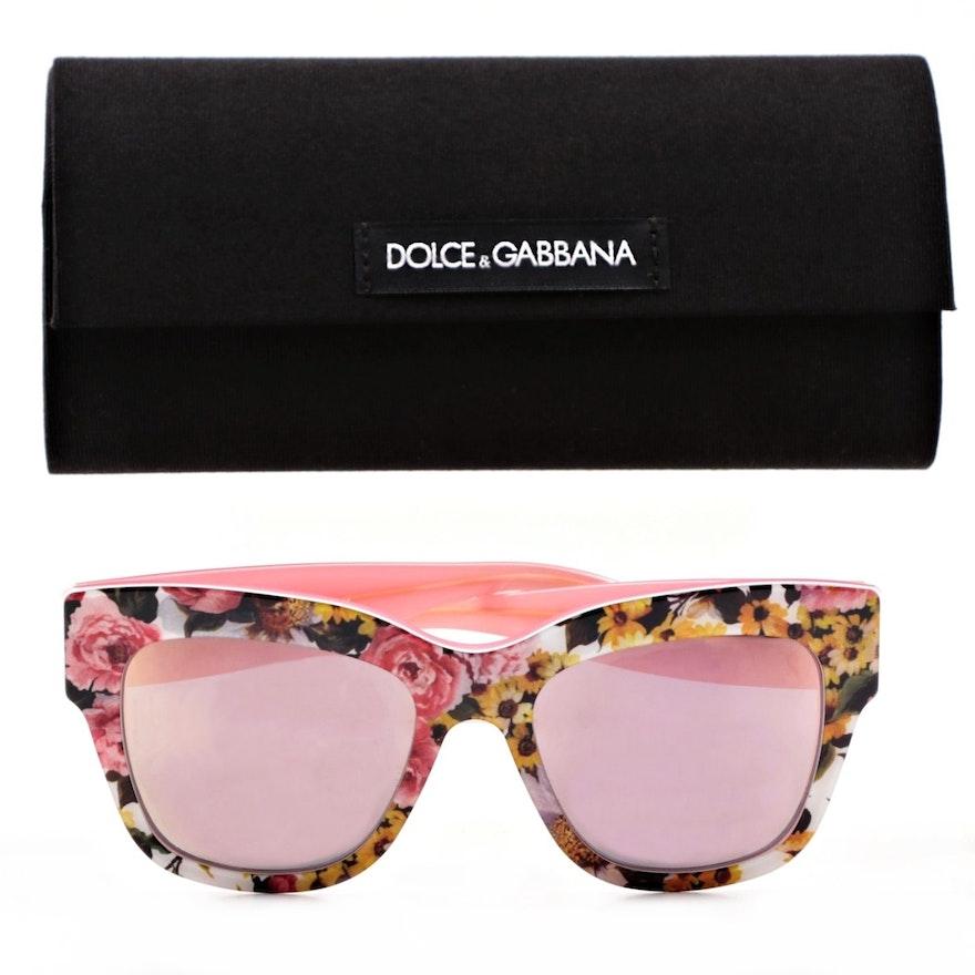 a38e63859c3 Dolce   Gabbana DG4231 Floral Frame Sunglasses   EBTH