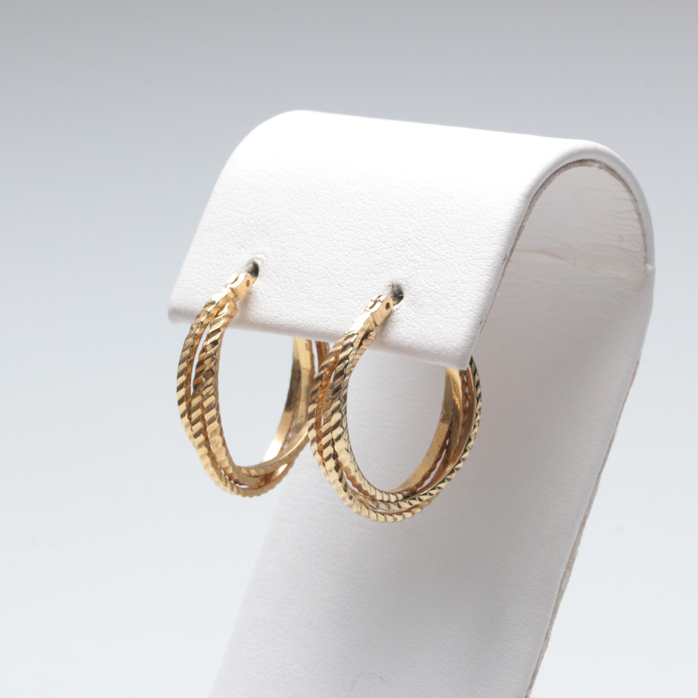 Pair of Costume Hoop Style Earrings