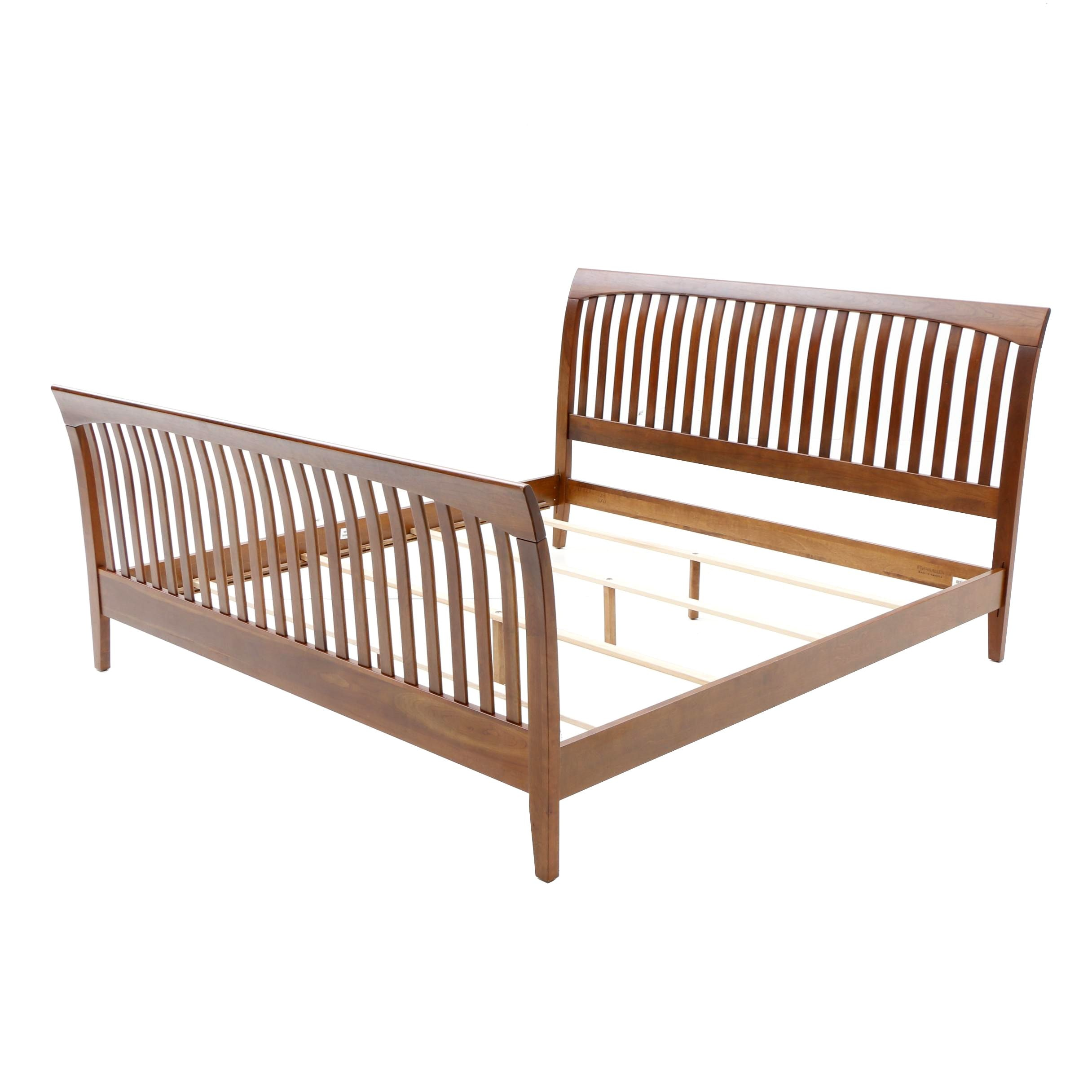 Cherry King Size Bed by Ethan Allen