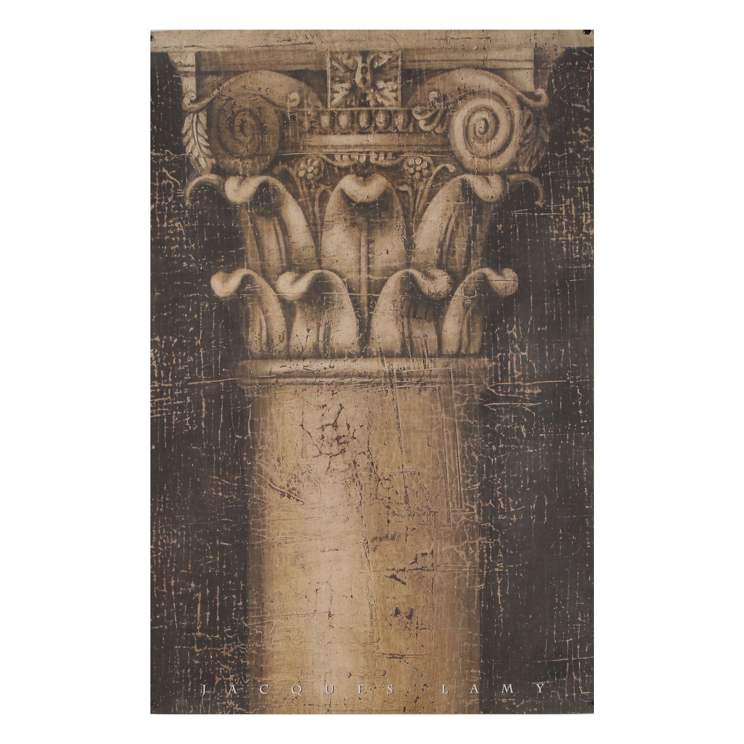 """Offset Lithograph Poster After Jacques Lamy """"Smooth Column"""""""