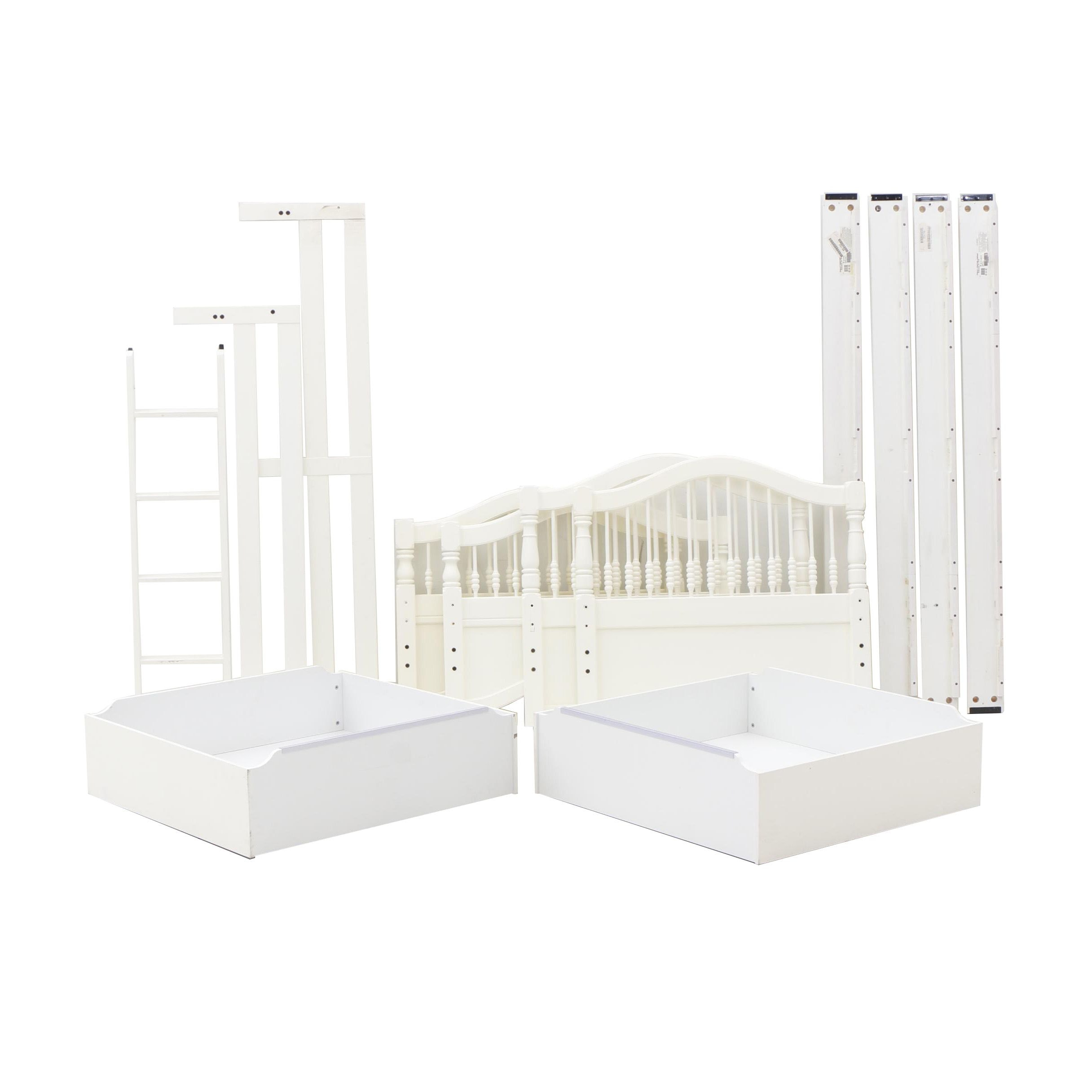 White Pained Stanley Furniture Bunk Bed with Trundle
