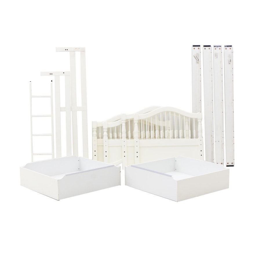 White Pained Stanley Furniture Bunk Bed With Trundle Ebth