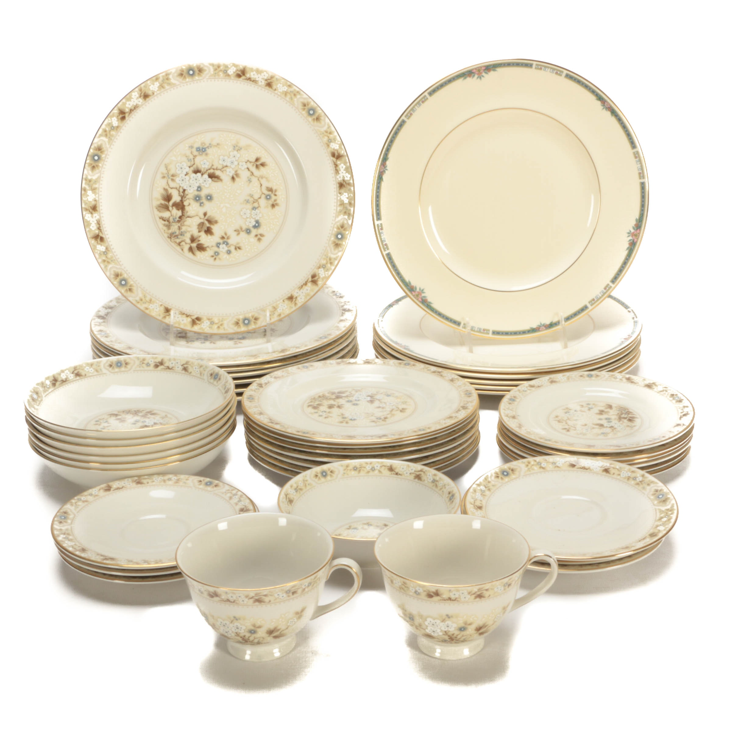 "Assorted Royal Doulton ""Mandalay"" and ""Ashley"" Bone China Dinnerware"