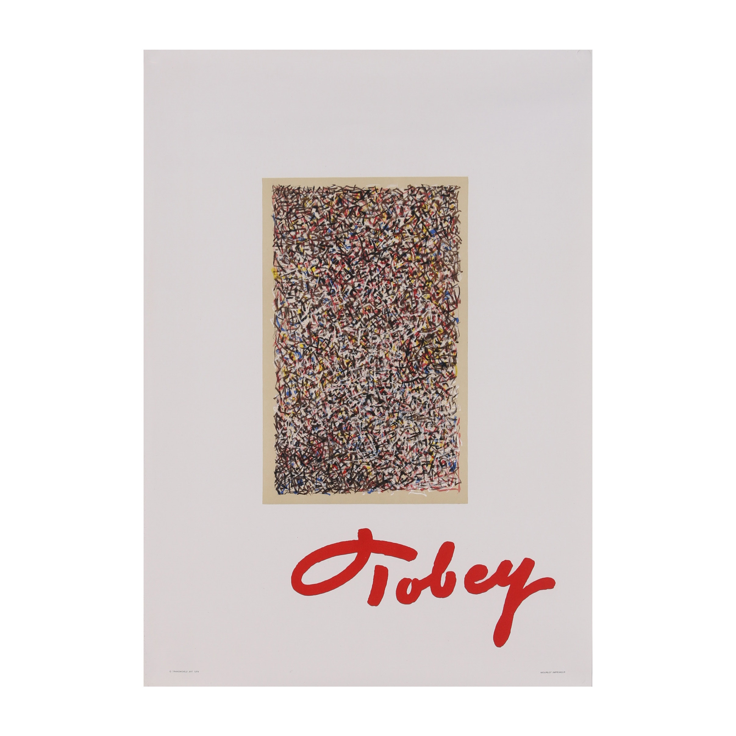 Color Lithograph Exhibition Poster for Mark Tobey