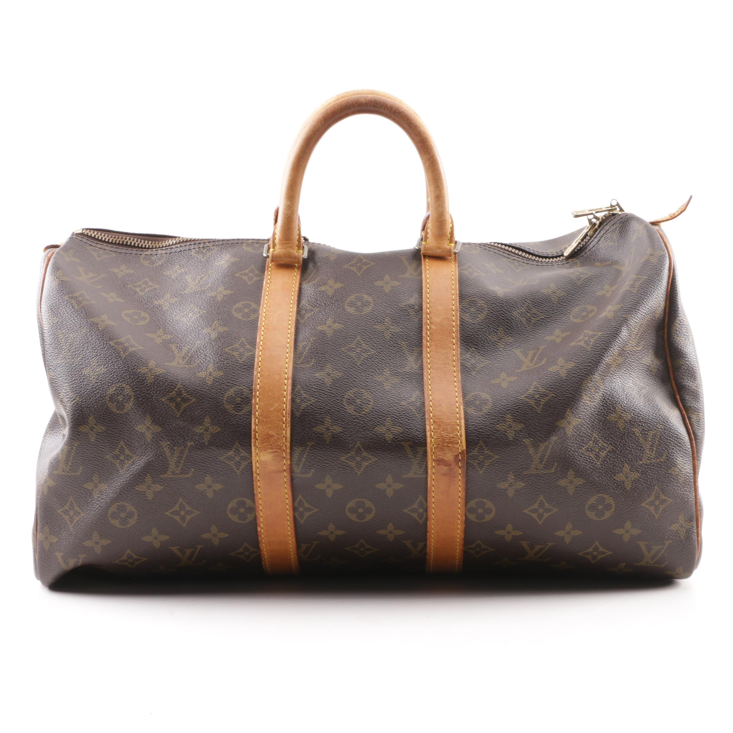 1990 Louis Vuitton Paris Monogram Canvas Keepall Duffel
