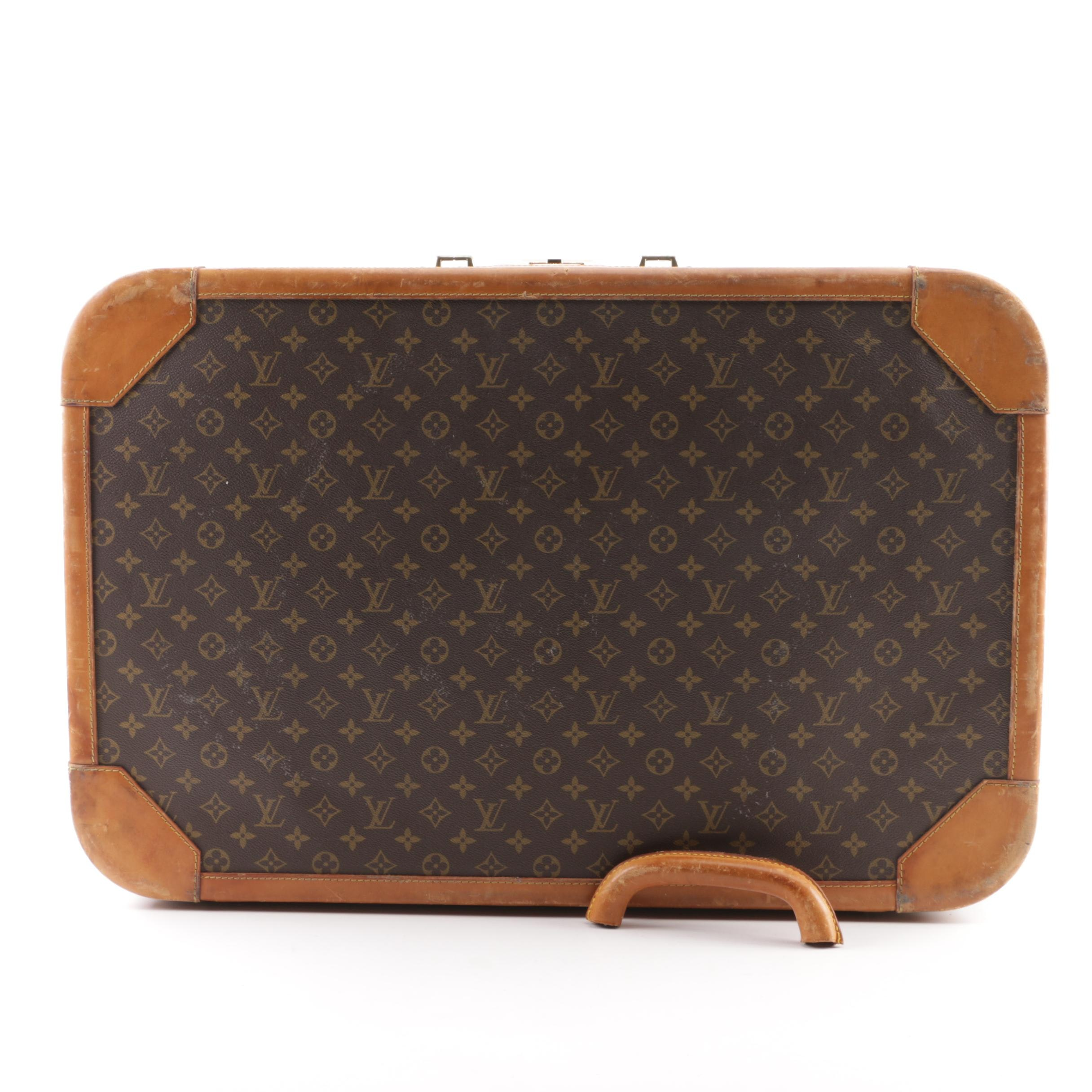 Vintage Louis Vuitton Paris Monogram Canvas Hardtop Suitcase