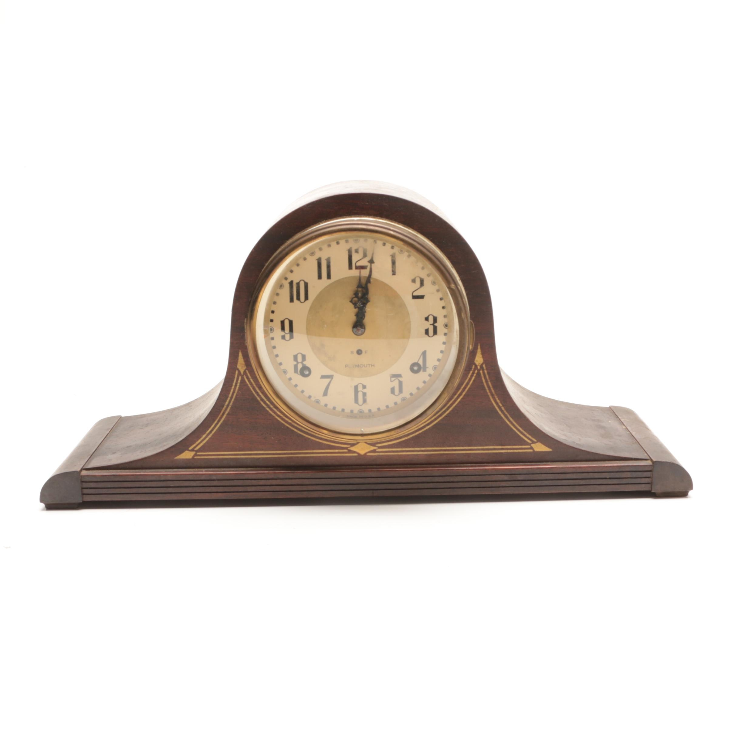 1930s Plymouth Tambour Mantel Clock
