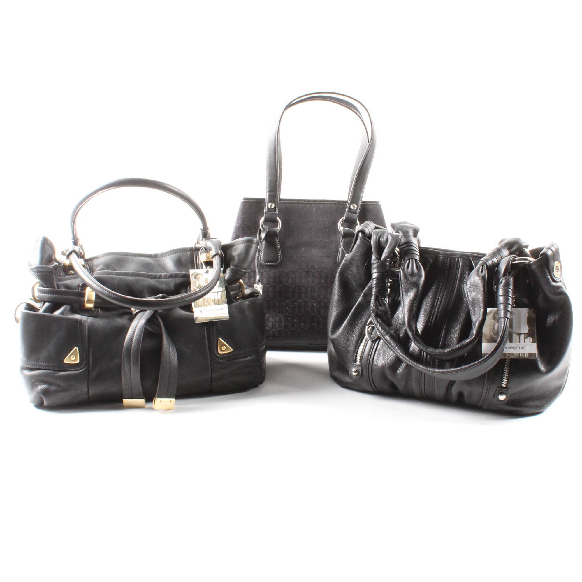 Black Handbags by Giani Bernini and B. Makowsky
